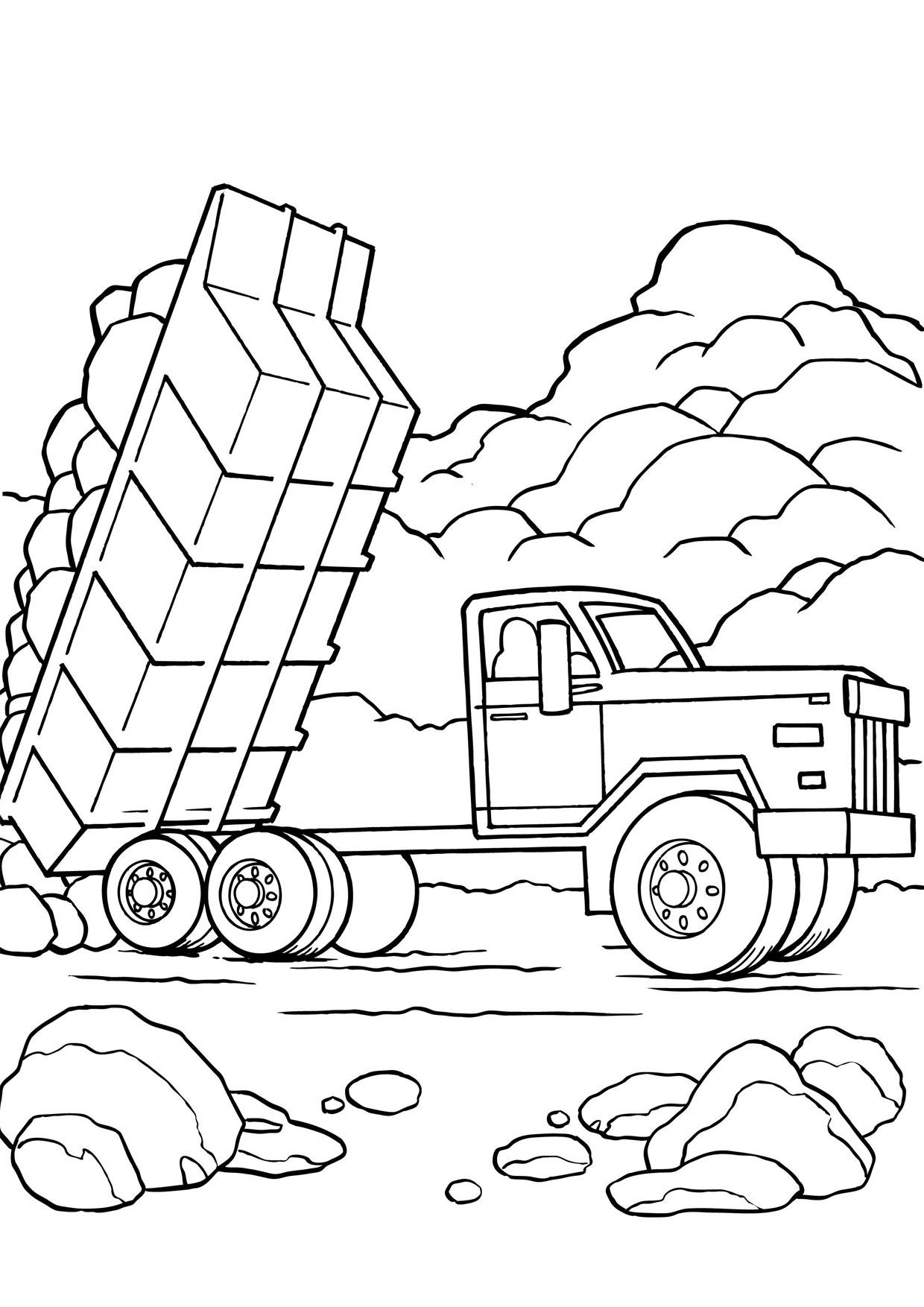 Disegno di camion da colorare 23
