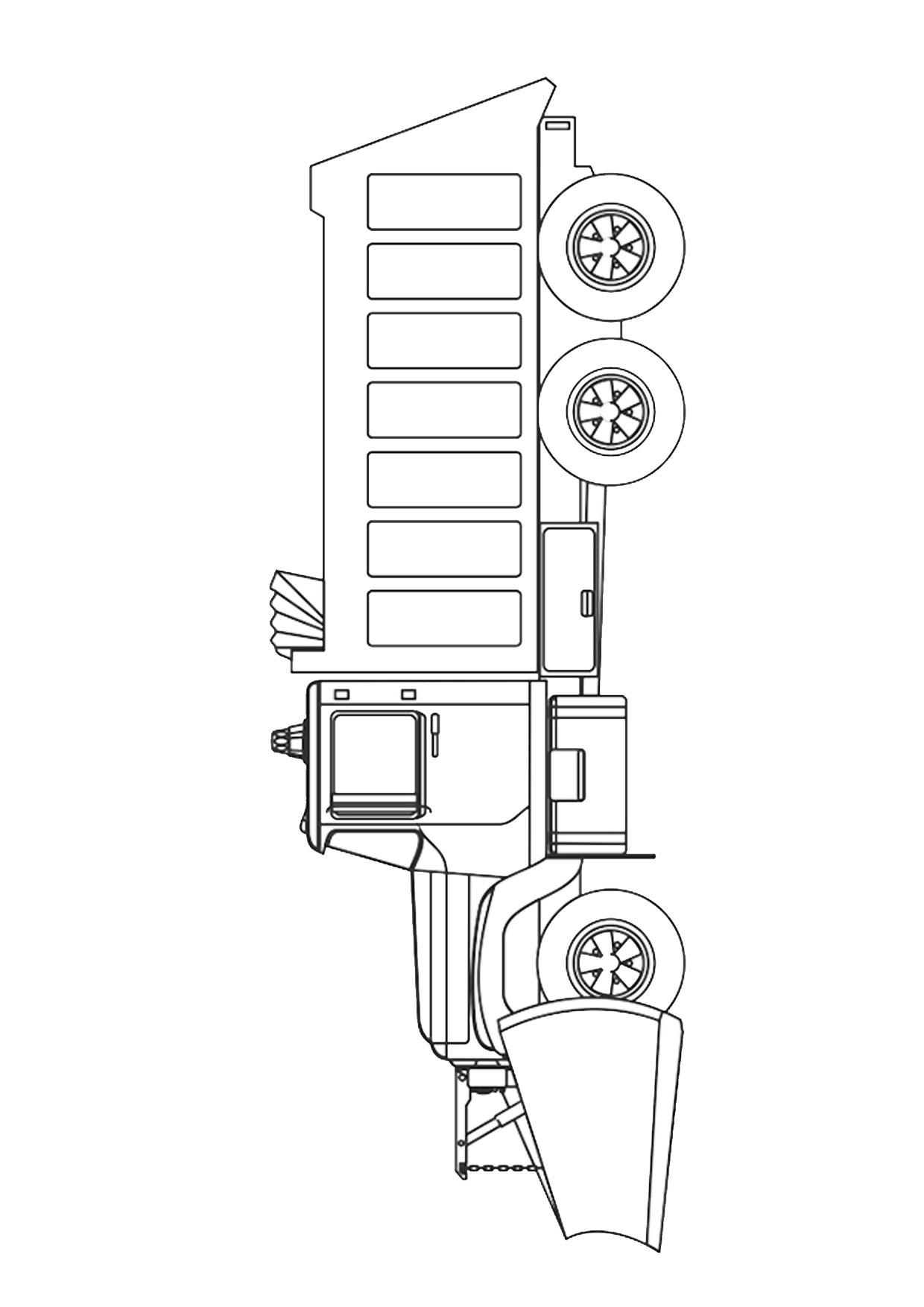 Disegno di camion da colorare 25