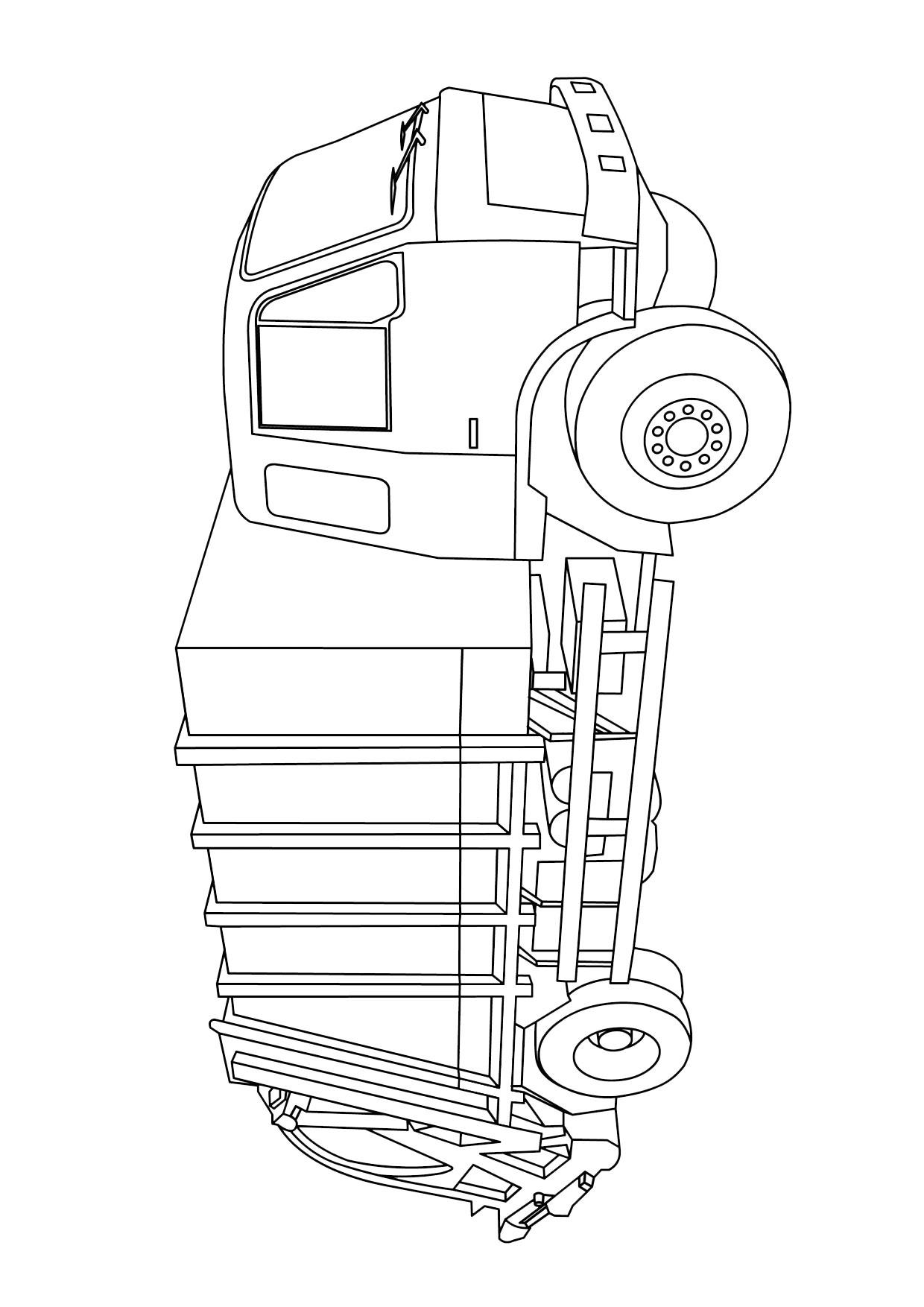 Disegno di camion da colorare 28