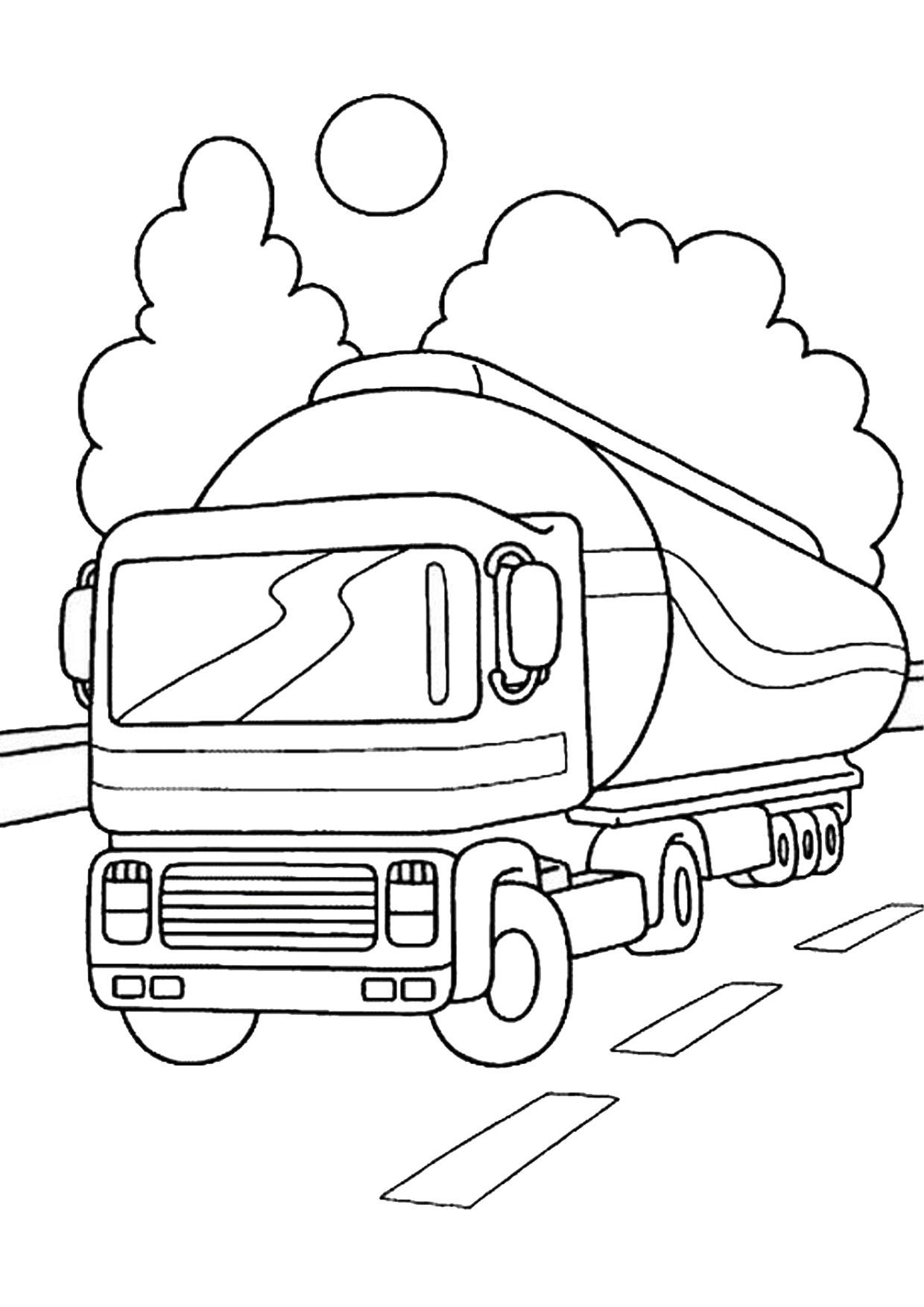 Disegno di camion da colorare 30