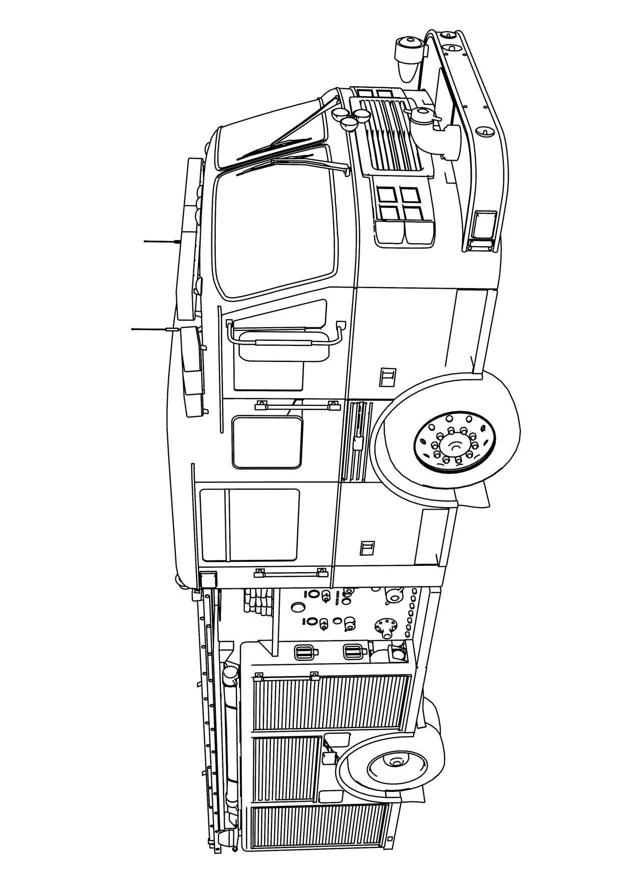 Disegno di camion da colorare 31