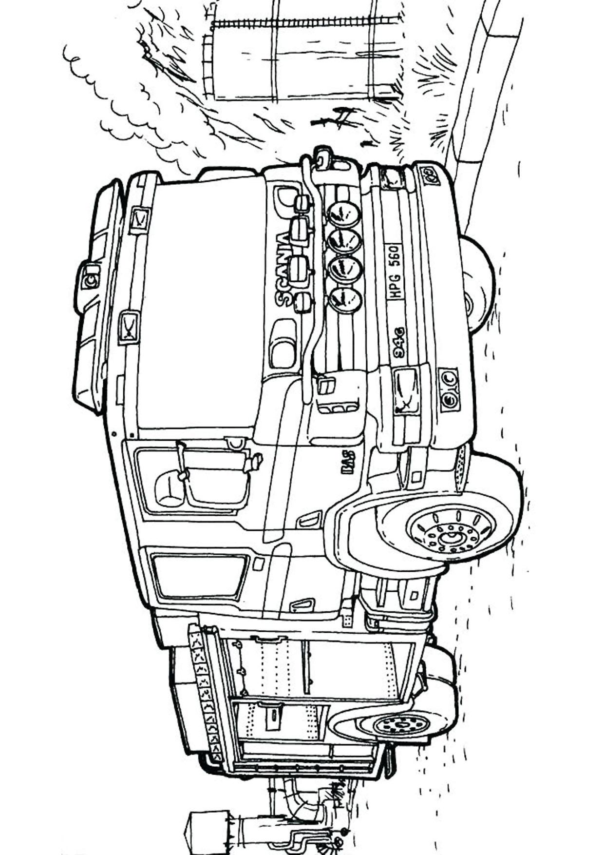 Disegno di camion da colorare 32