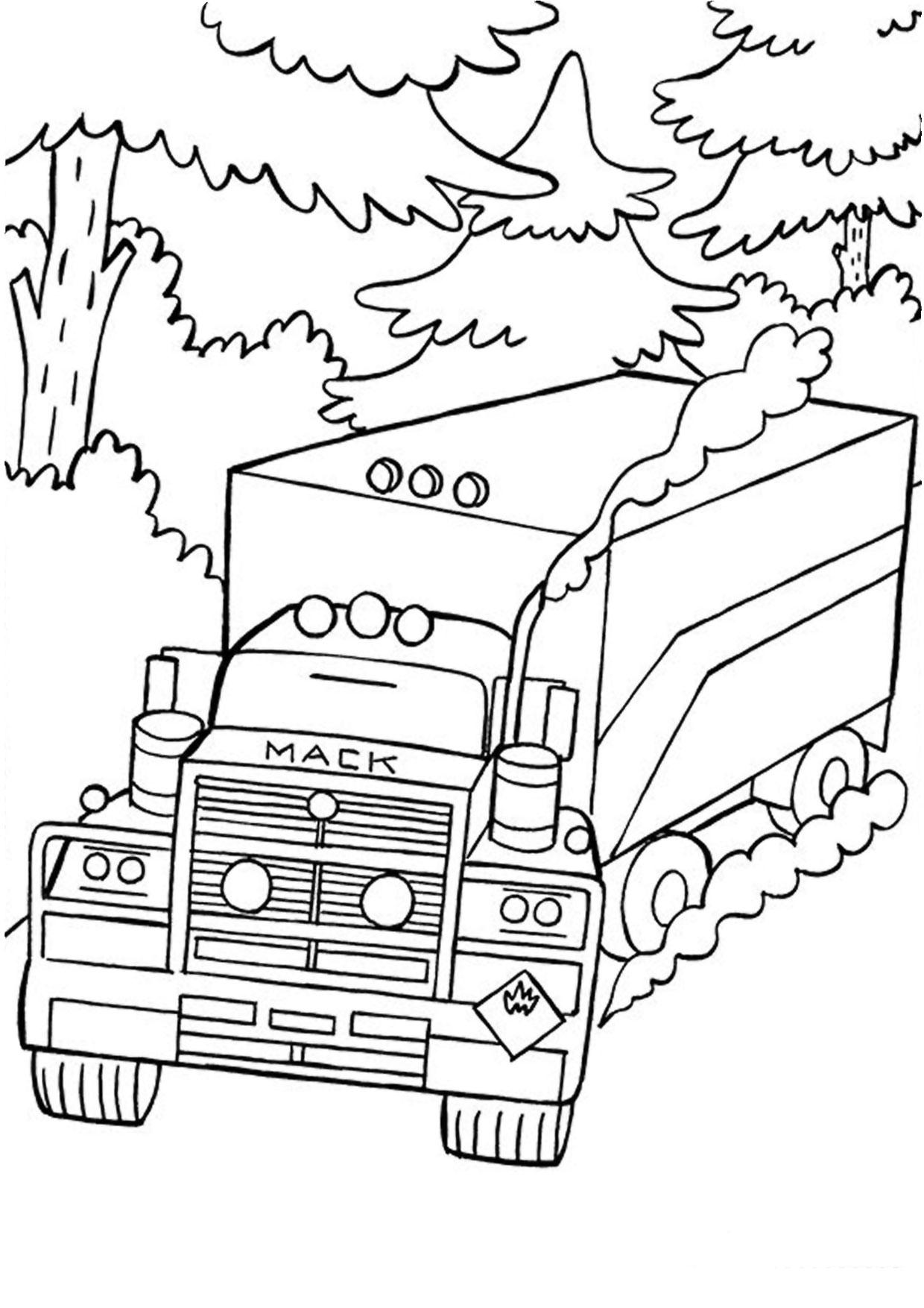 Disegno di camion da colorare 36