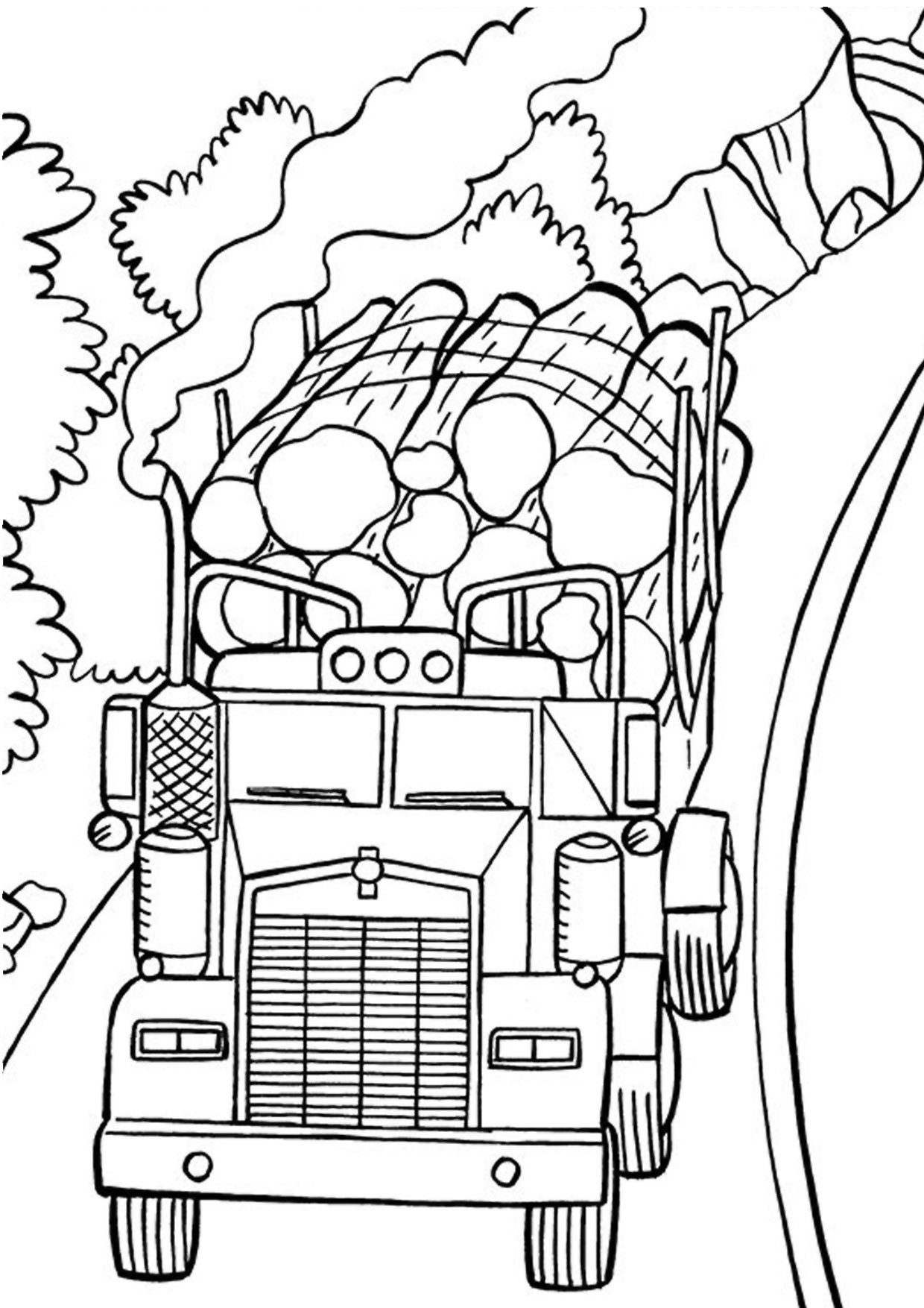 Disegno di camion da colorare 38