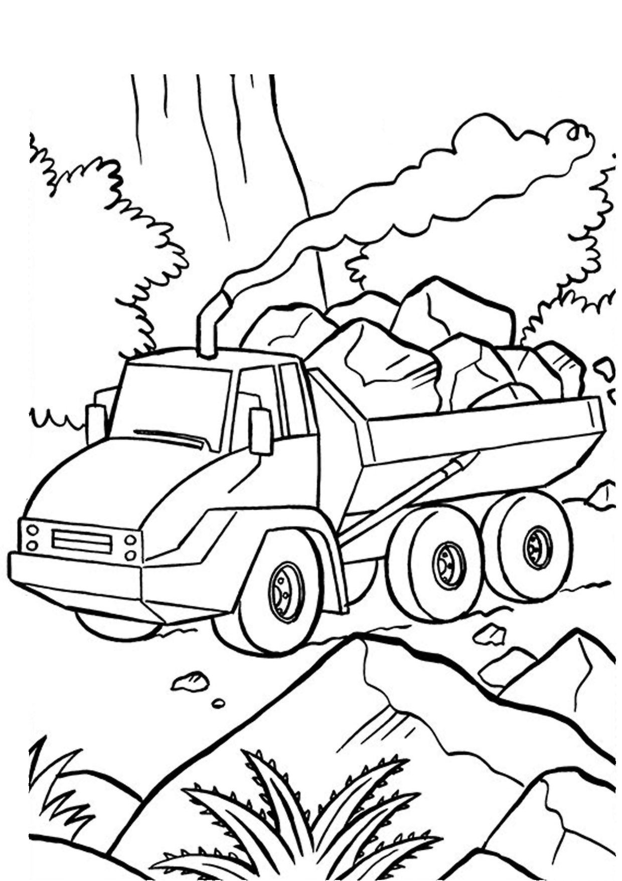 Disegno di camion da colorare 39