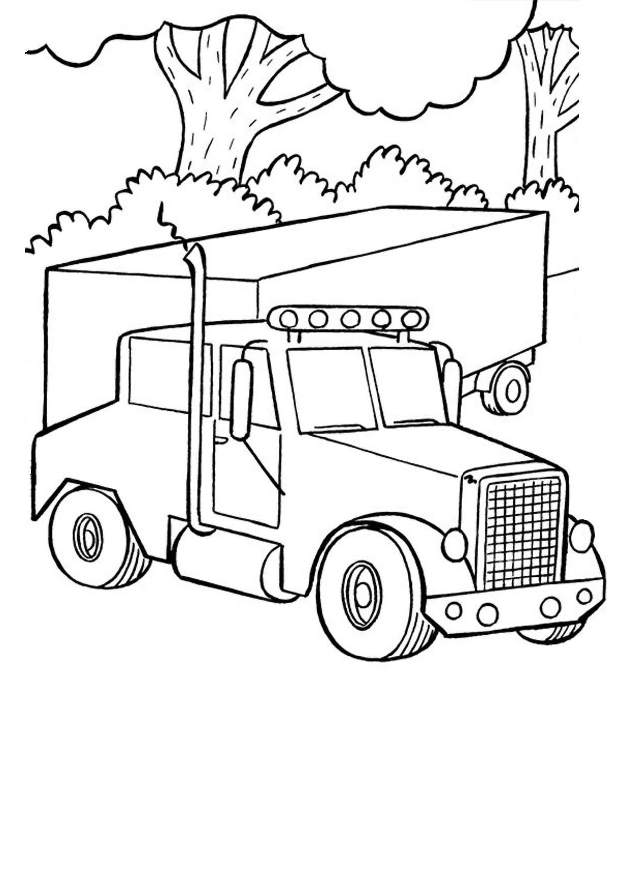 Disegno di camion da colorare 40