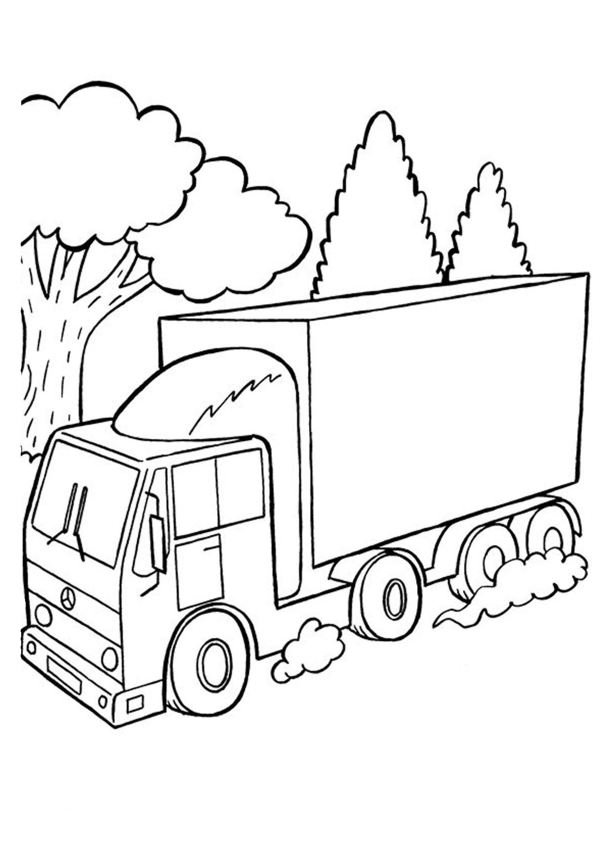 Disegno di camion da colorare 41