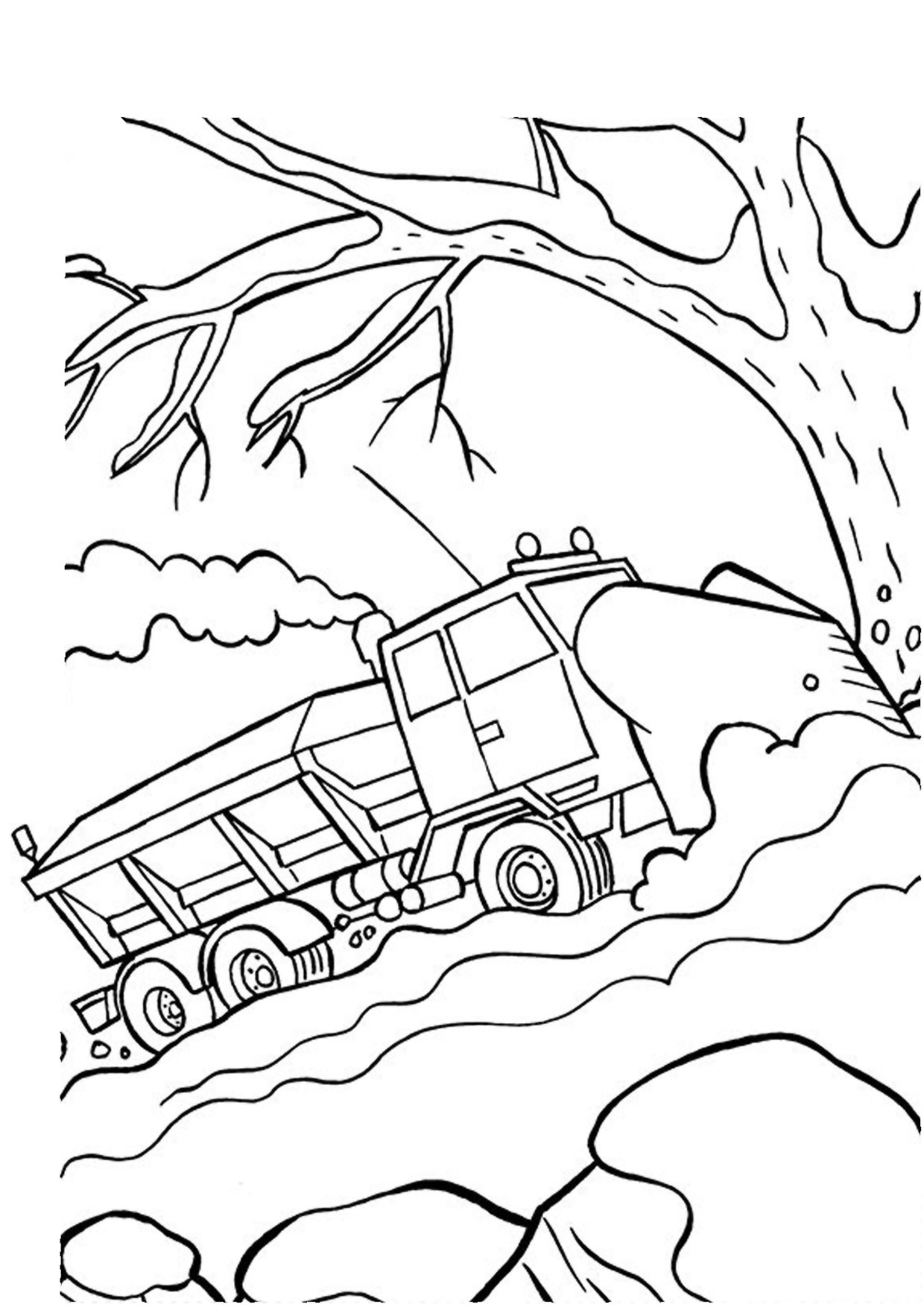 Disegno di camion da colorare 42