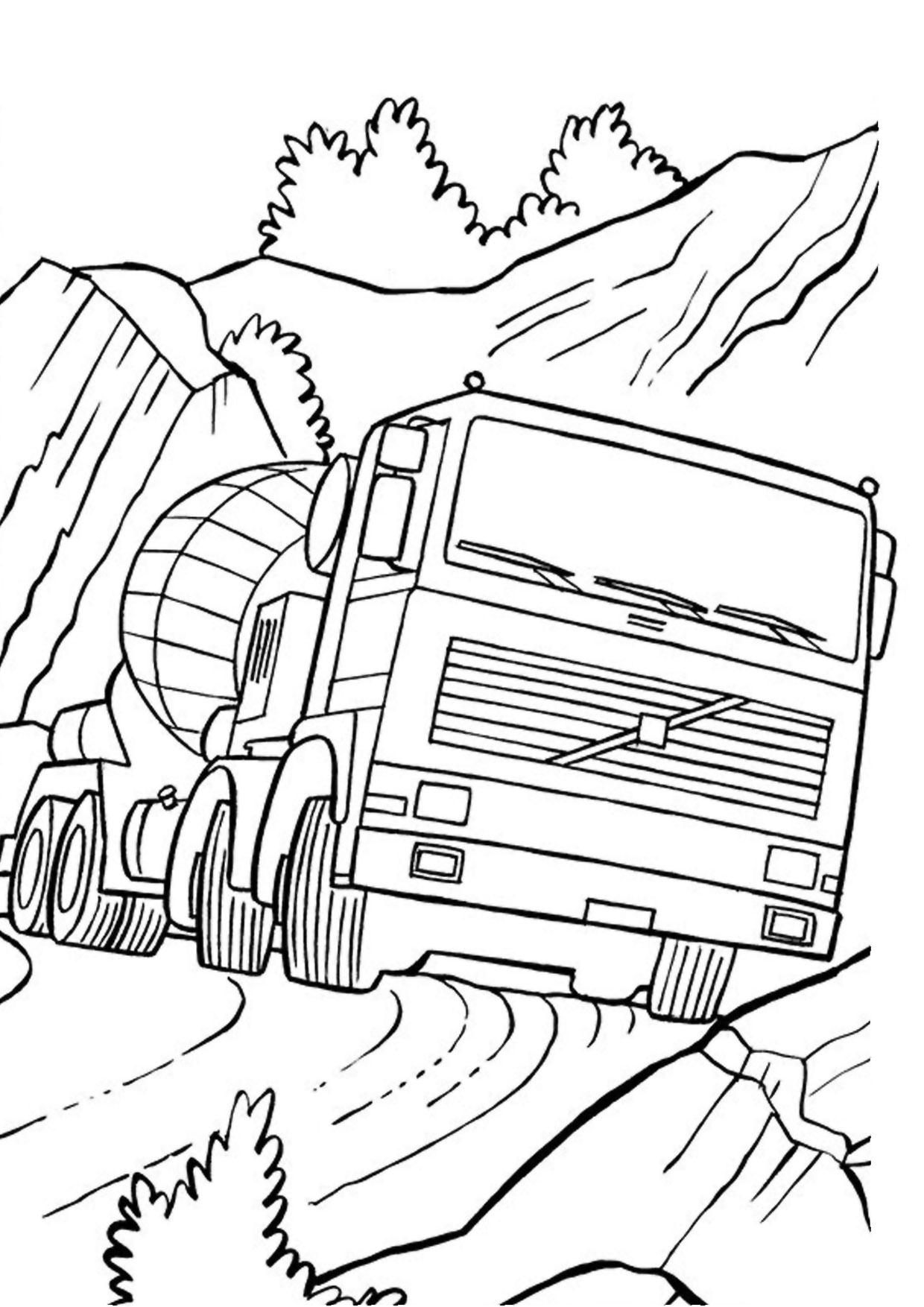 Disegno di camion da colorare 43