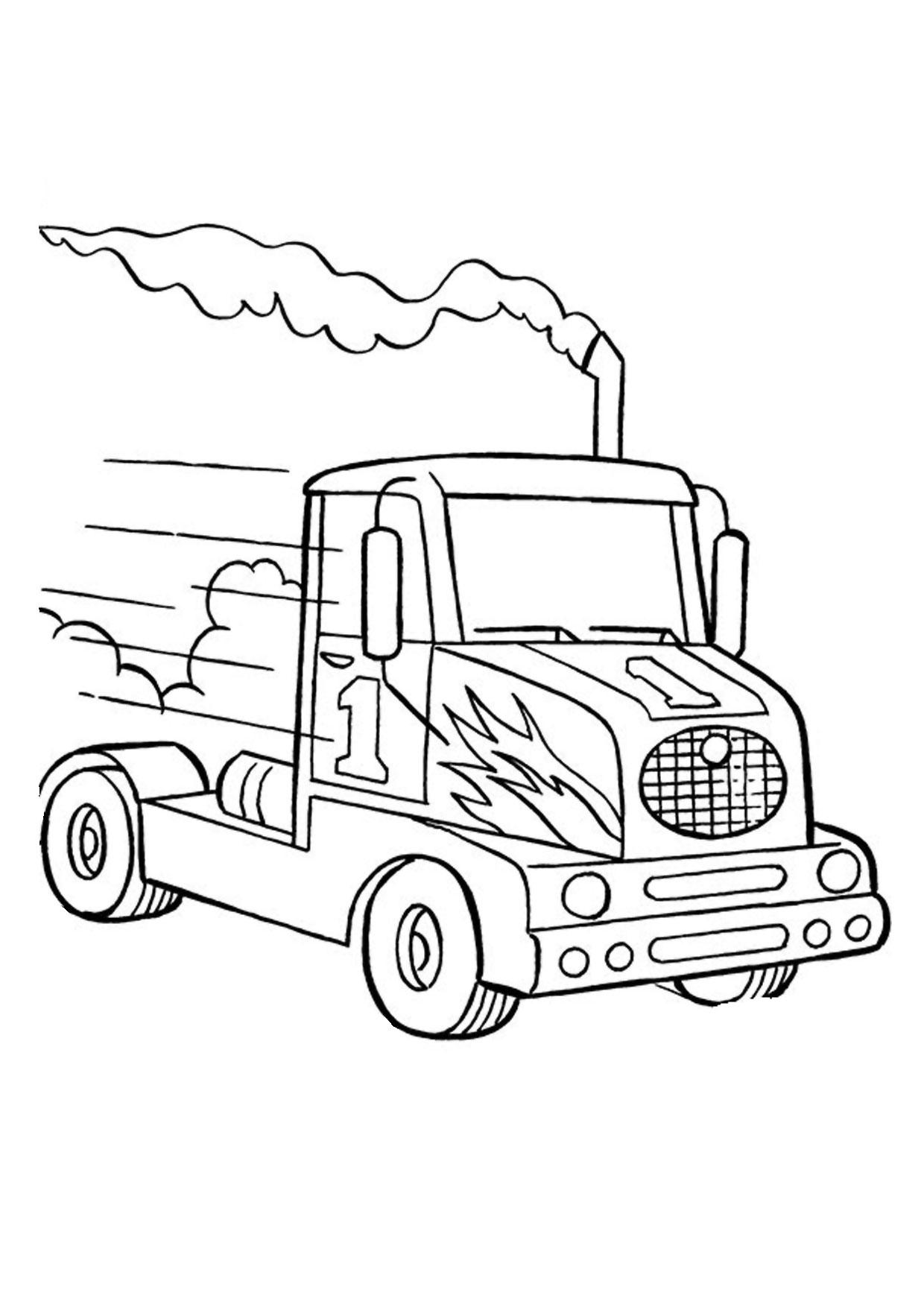 Disegno di camion da colorare 44