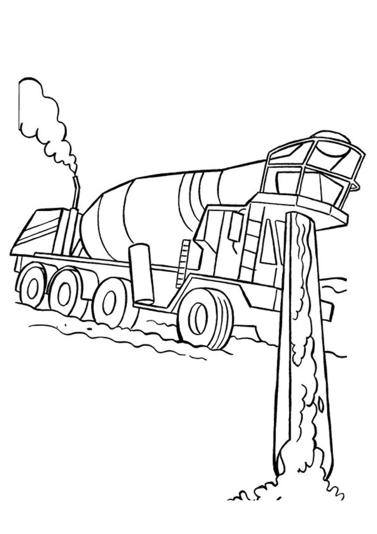 Disegno di camion da colorare 45