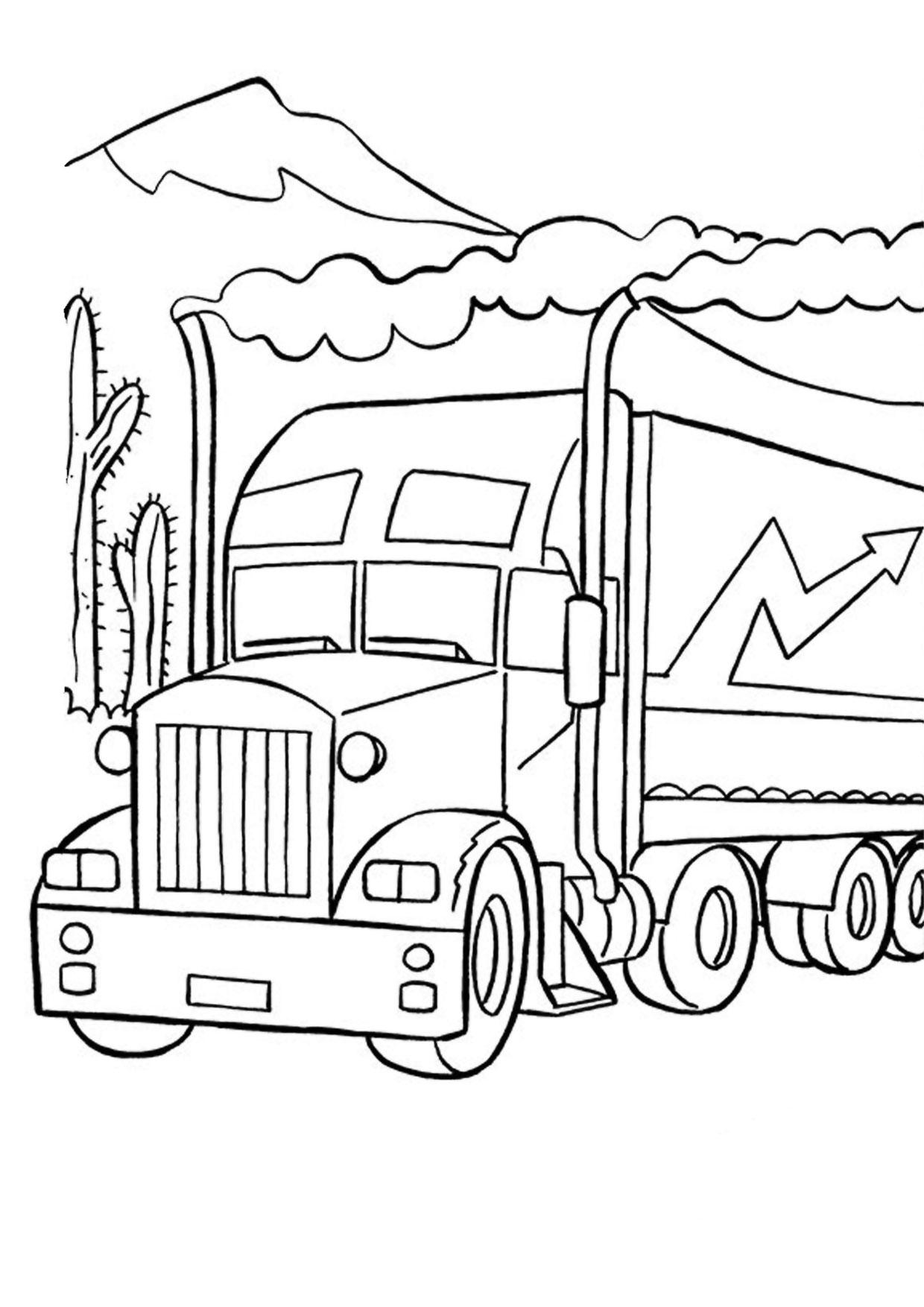 Disegno di camion da colorare 46
