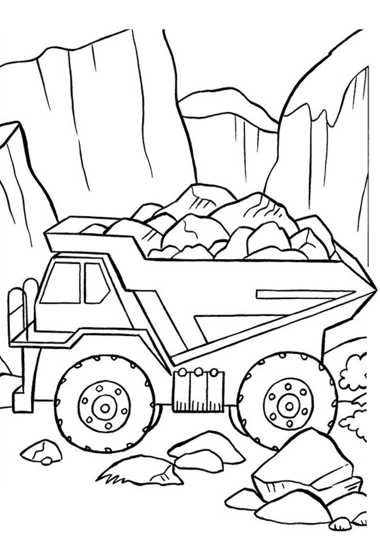 Disegno di camion da colorare 47