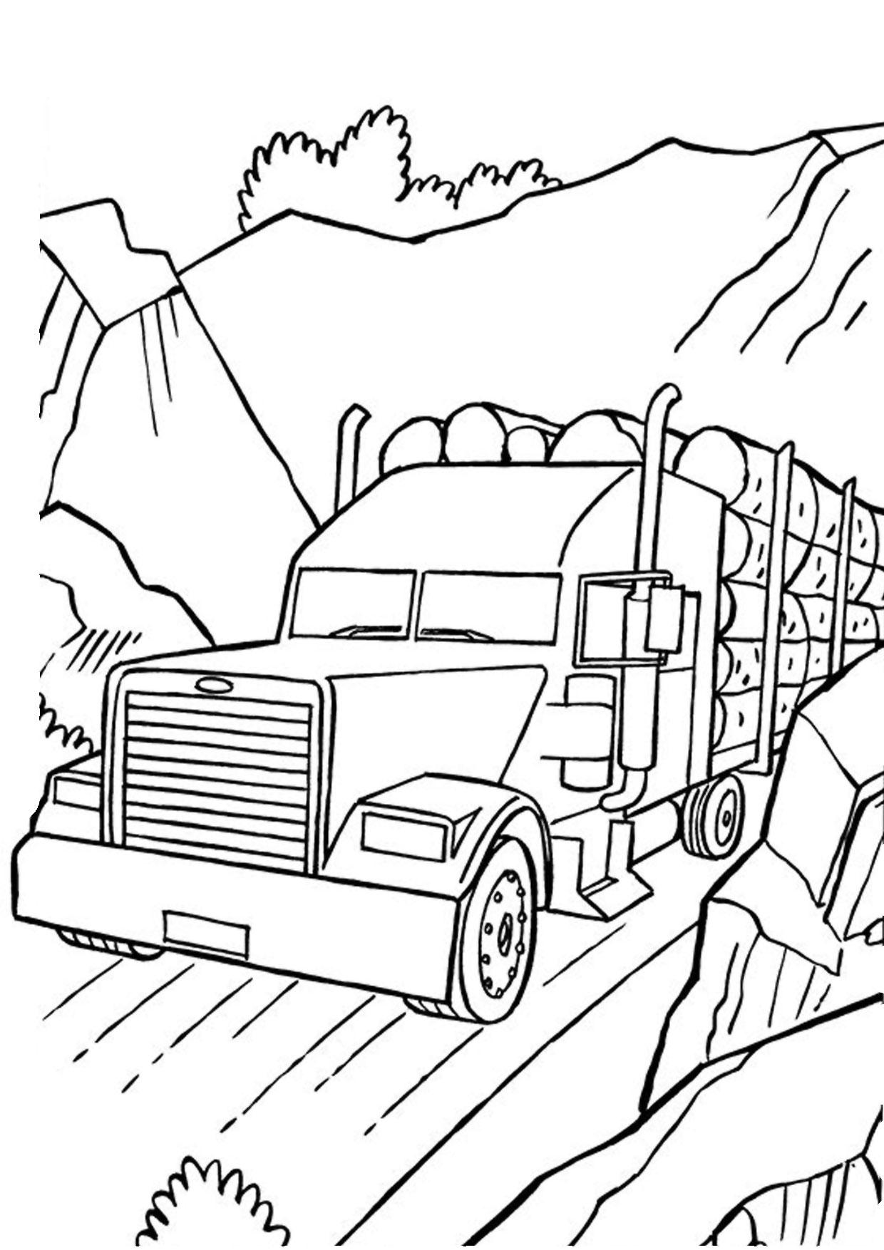Disegno di camion da colorare 48