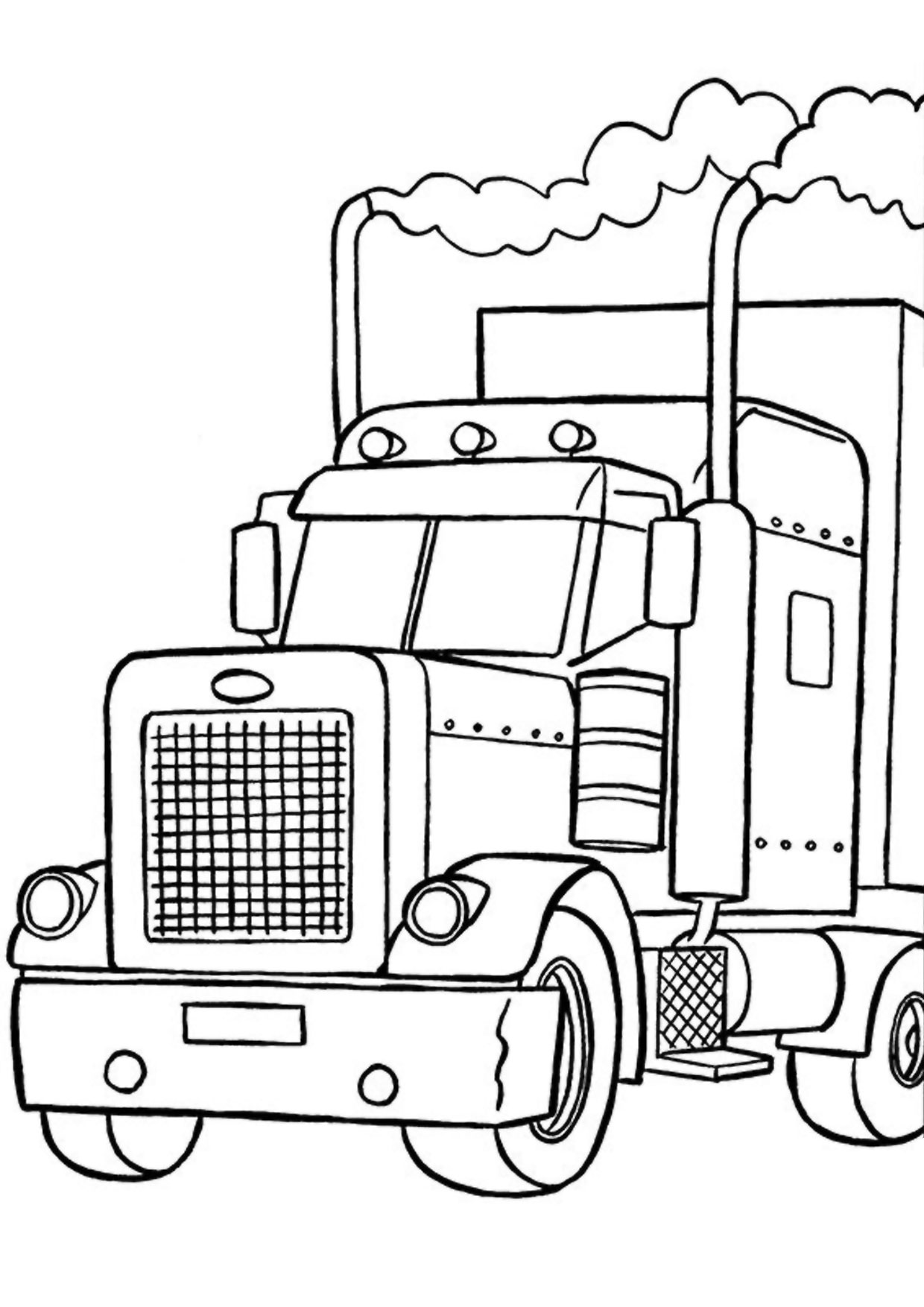 Disegno di camion da colorare 49