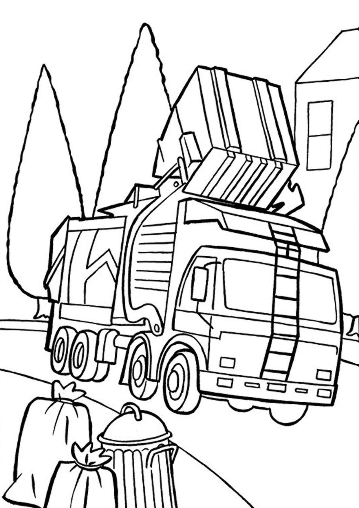Disegno di camion da colorare 50
