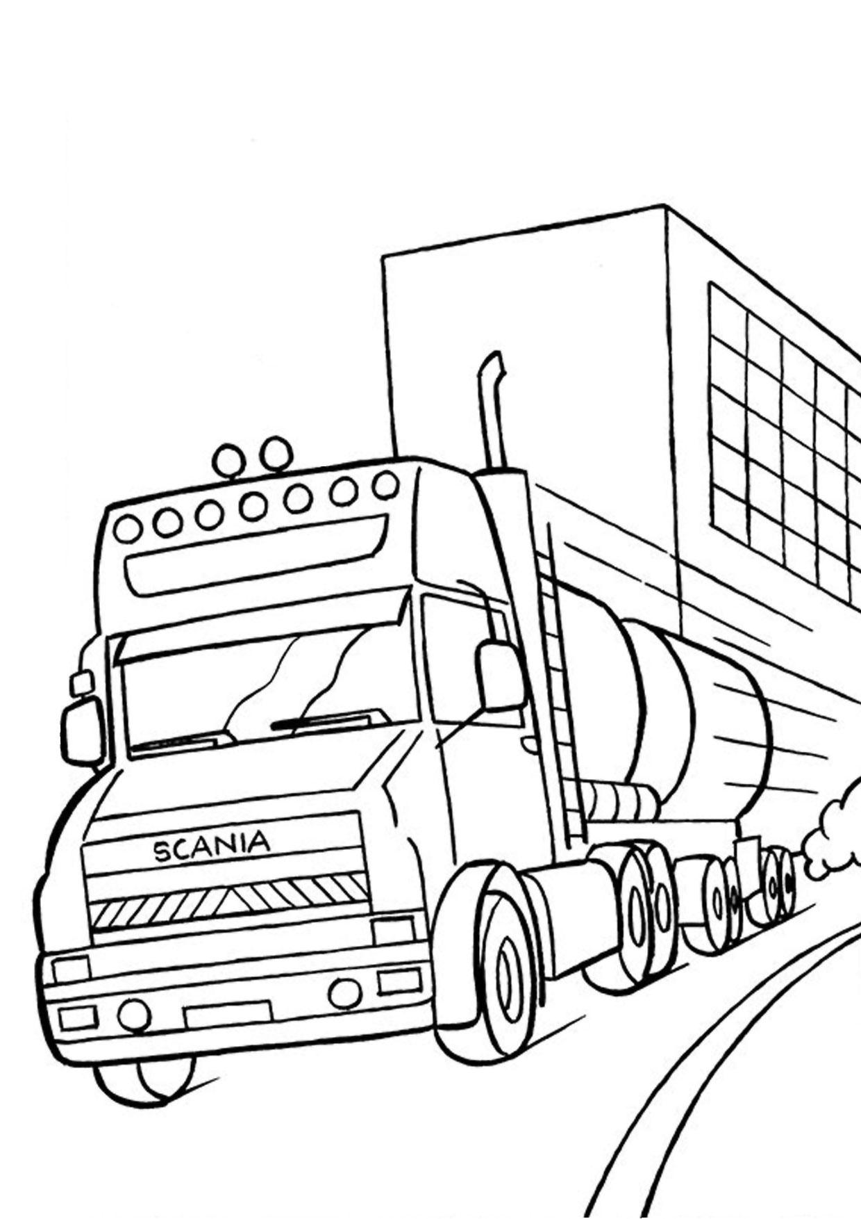 Disegno di camion da colorare 51