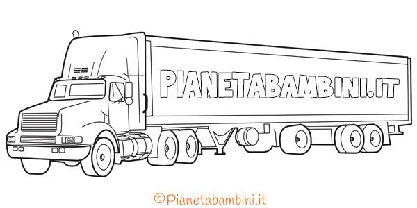 Disegni di camion da stampare gratis e colorare
