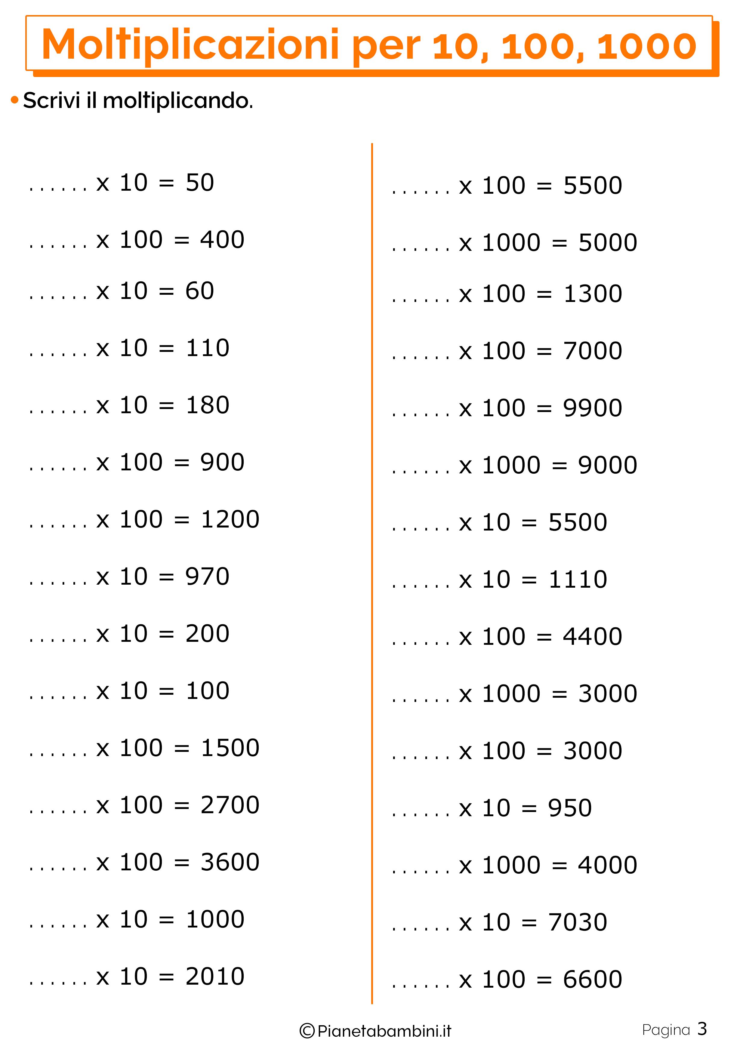 Schede didattiche moltiplicazioni 10 100 1000_3