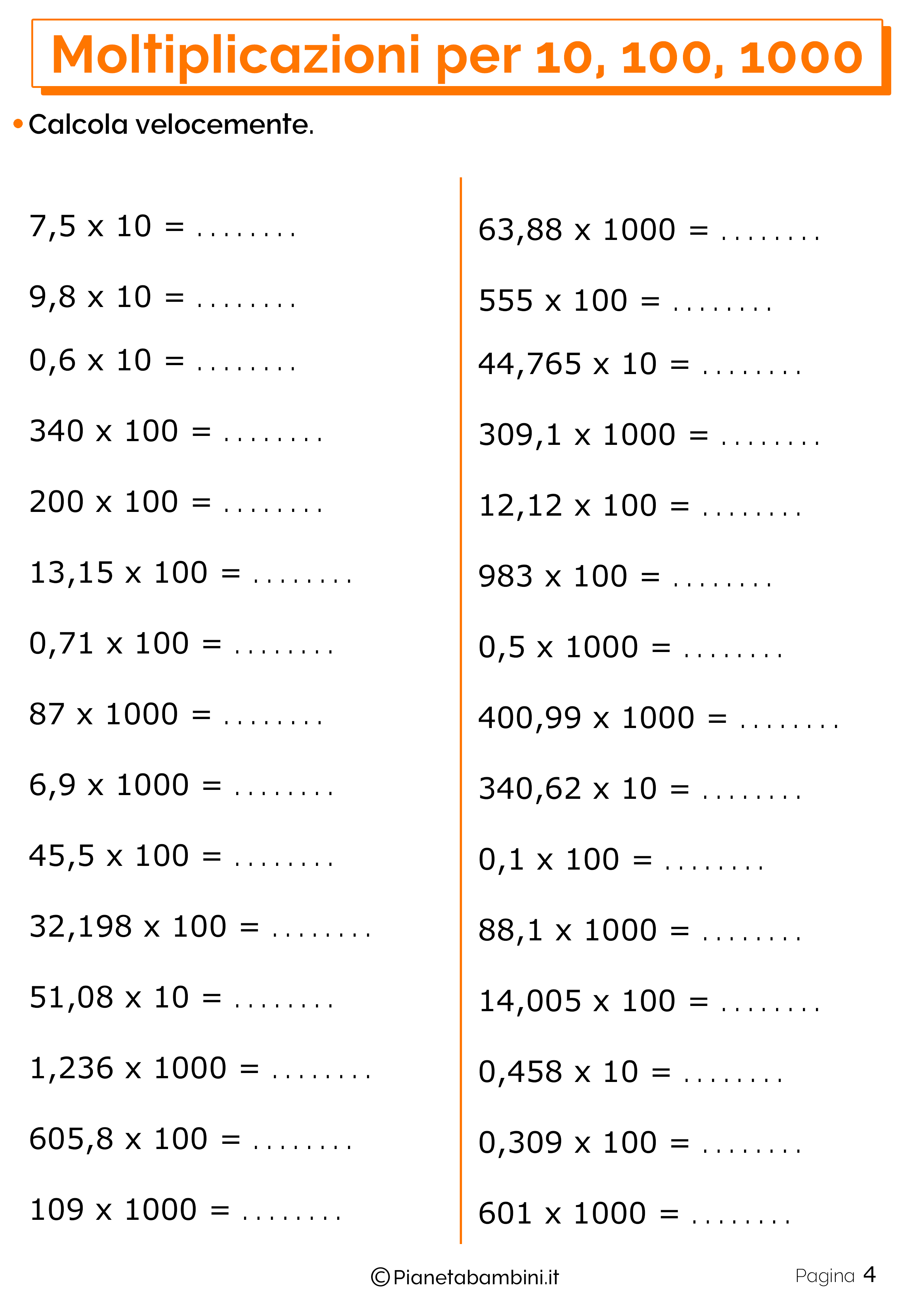 Schede didattiche moltiplicazioni 10 100 1000_4