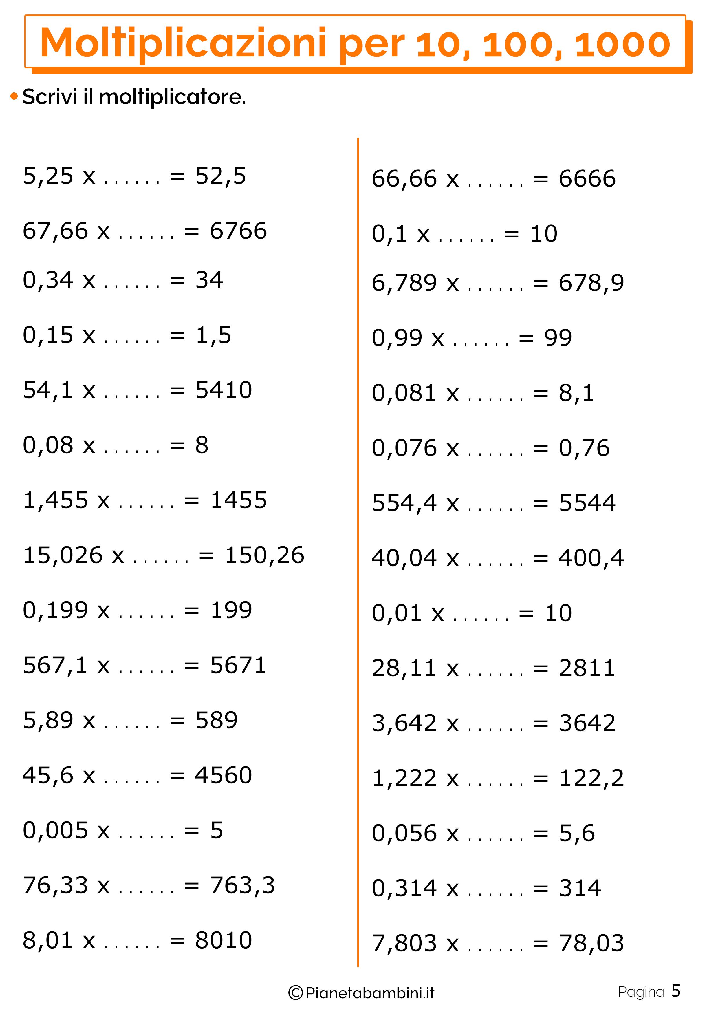 Schede didattiche moltiplicazioni 10 100 1000_5
