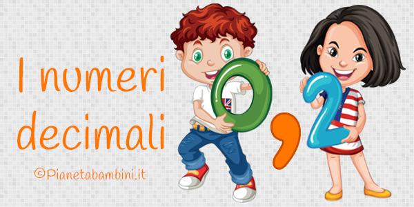 Schede didattiche sui numeri decimali per la scuola primaria da stampare gratis