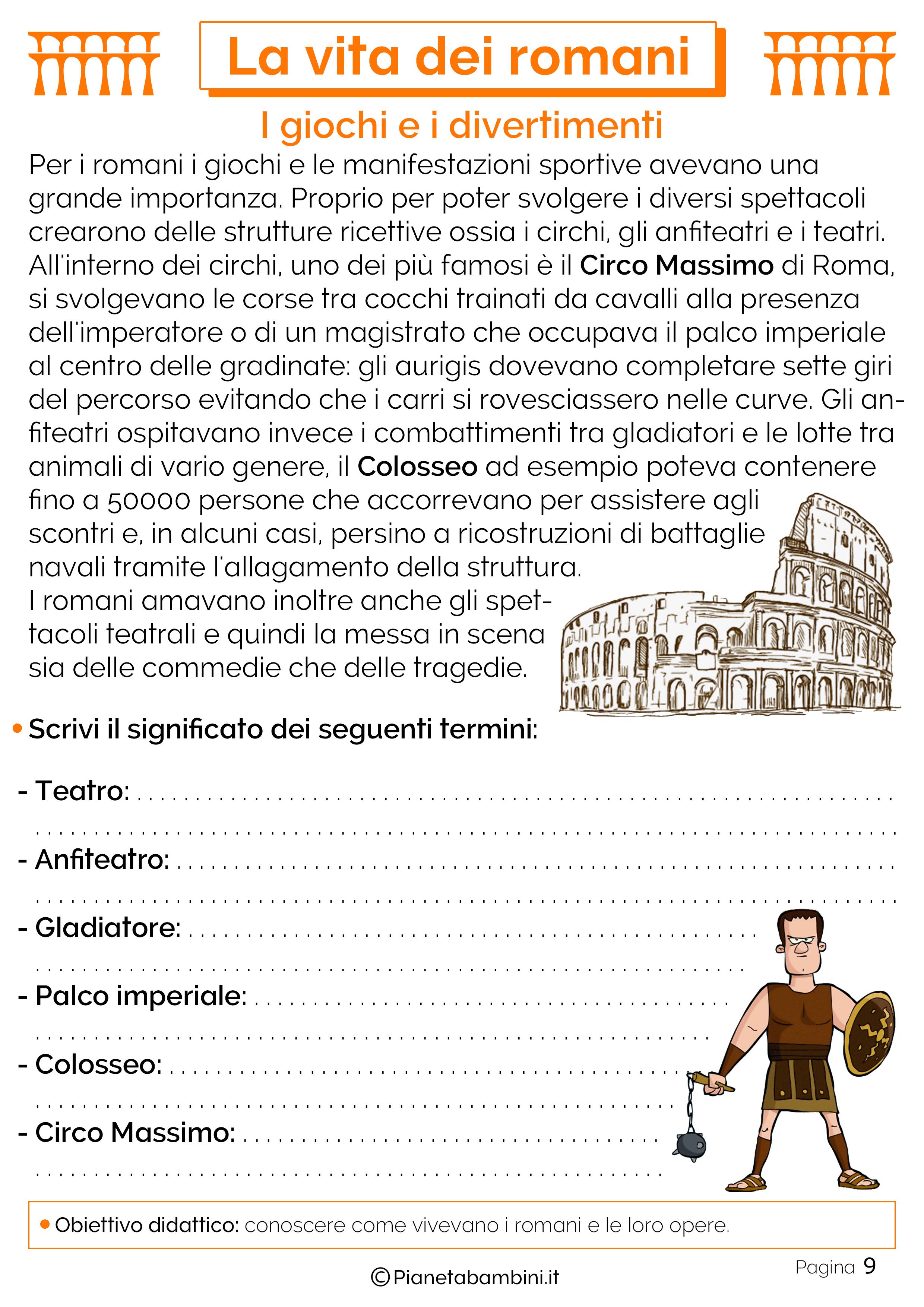 Il Colosseo e i giochi romani