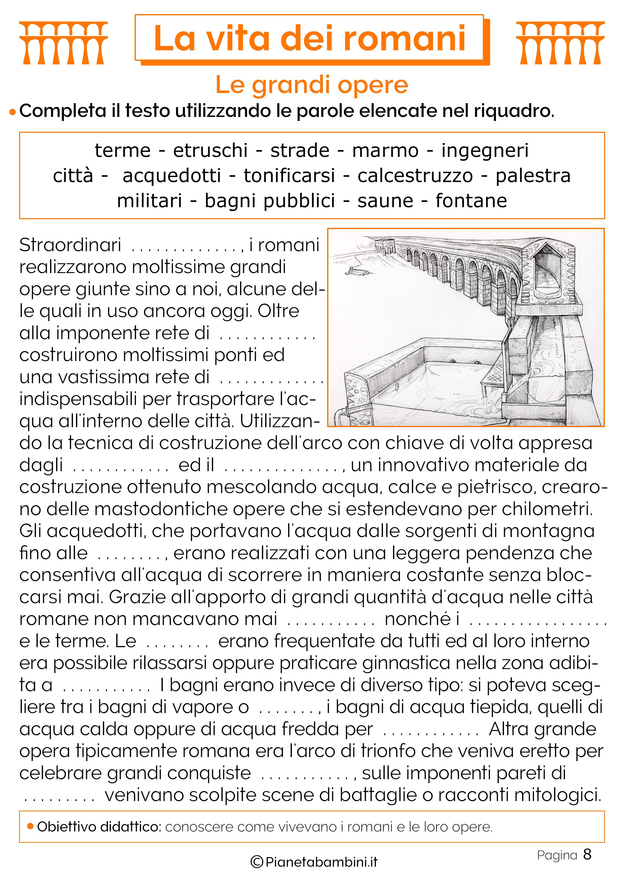 Ponti, acquedotti e terme romane