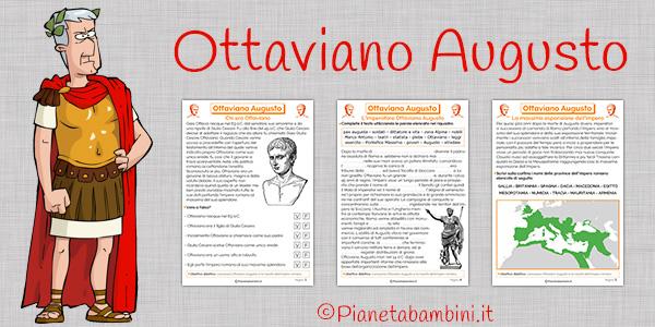 Schede didattiche su Ottaviano Augusto da stampare gratis