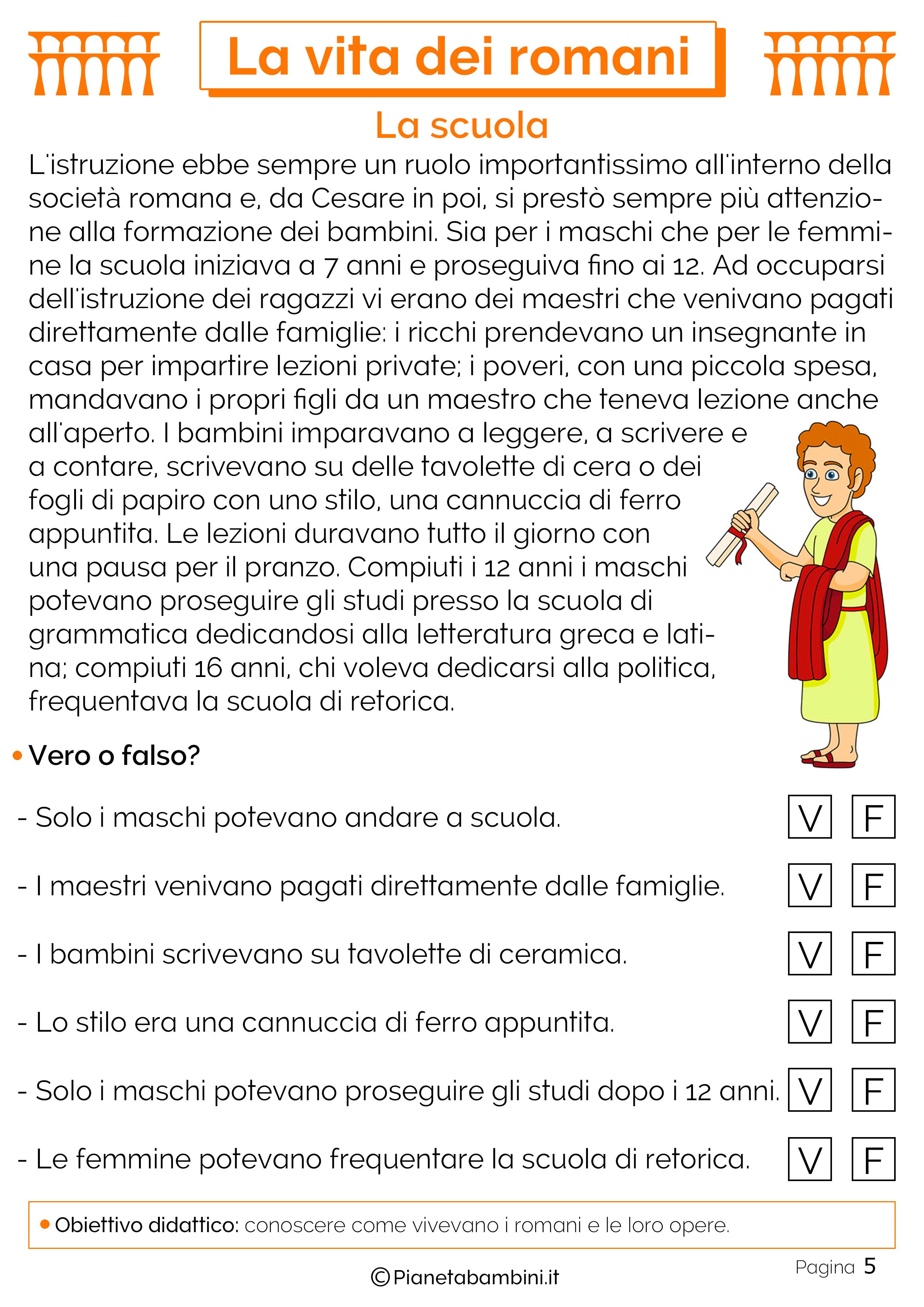 Istruzione per i romani
