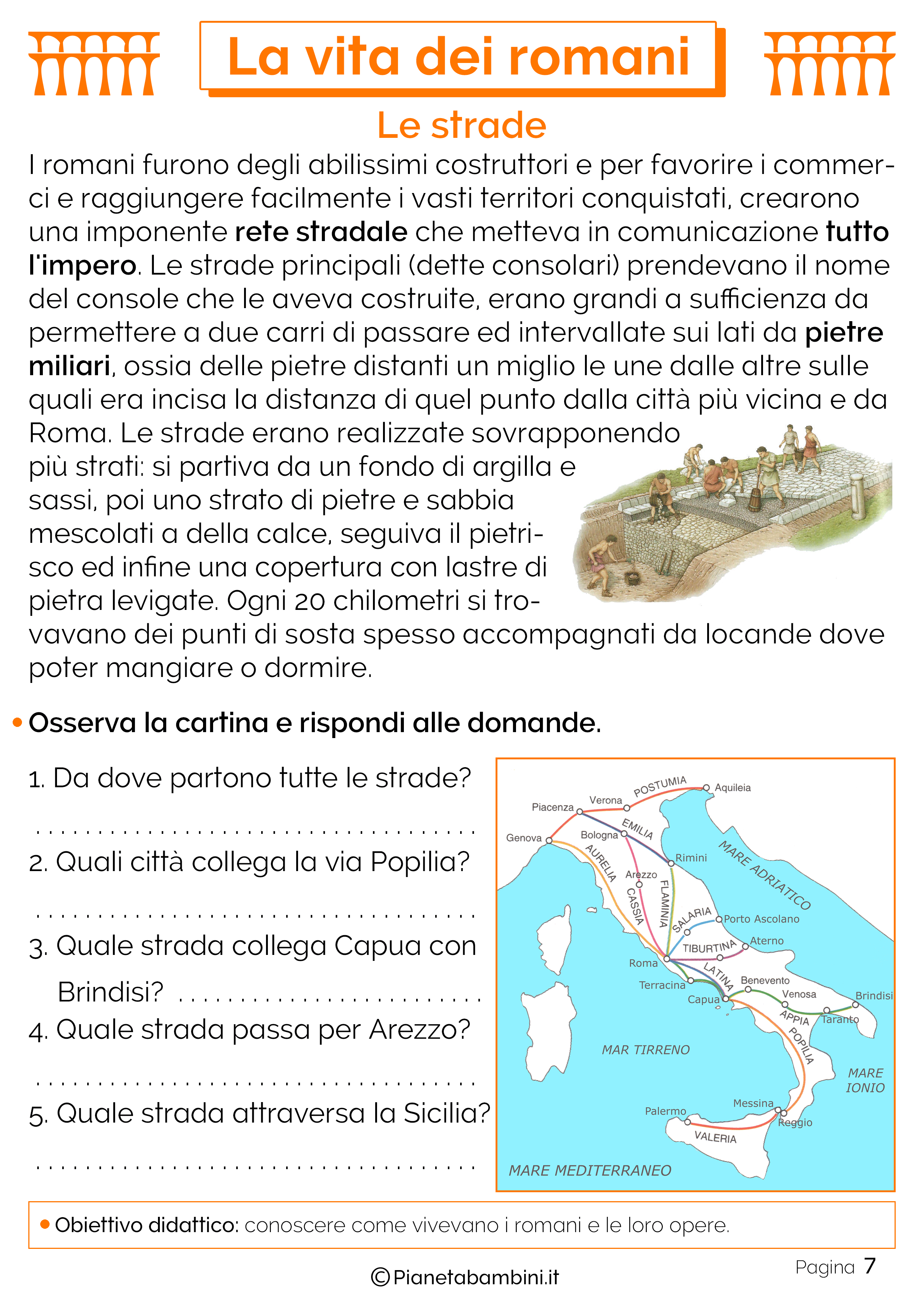 Rete stradale romana