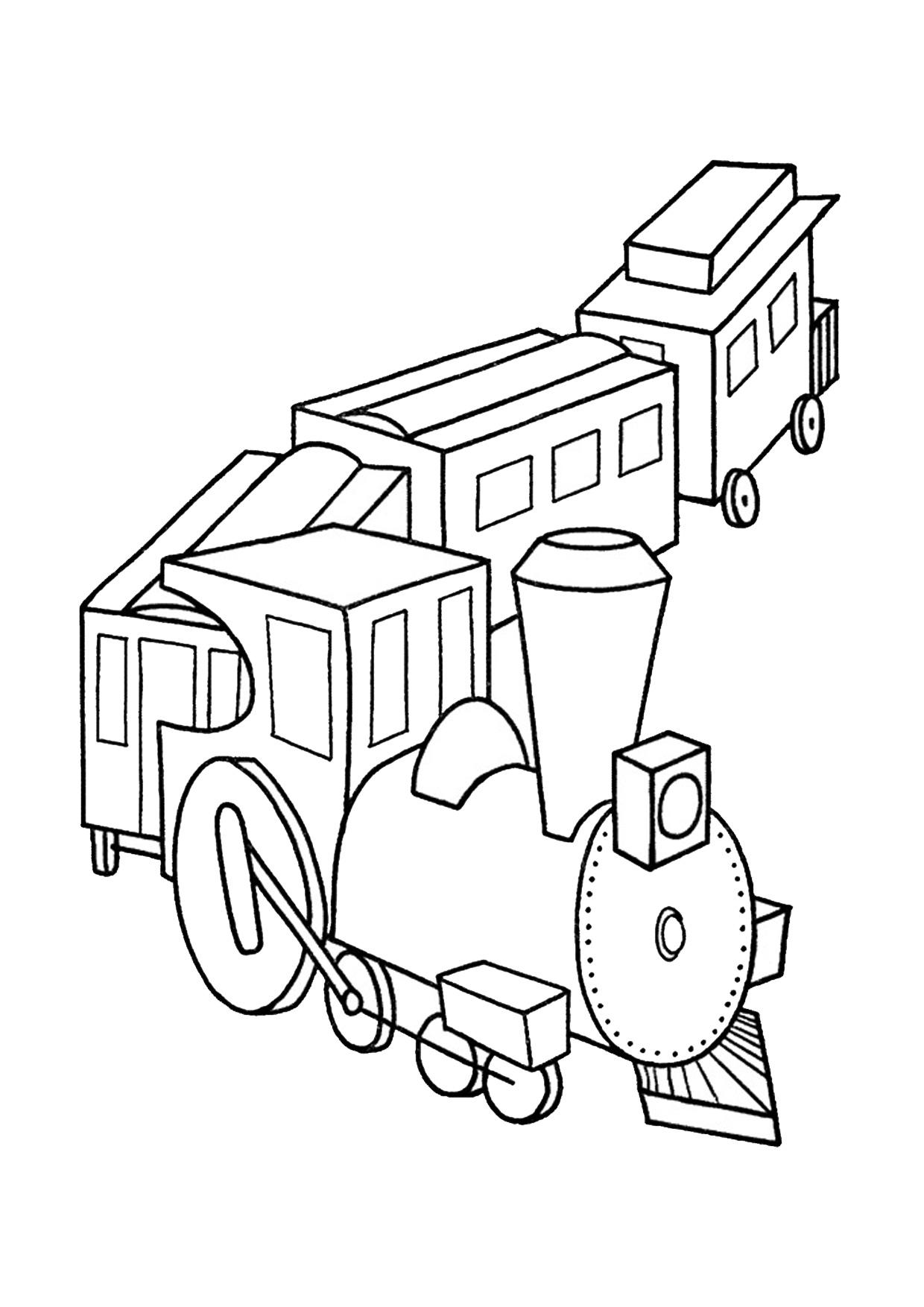 Disegno di treno cartoon da colorare 10