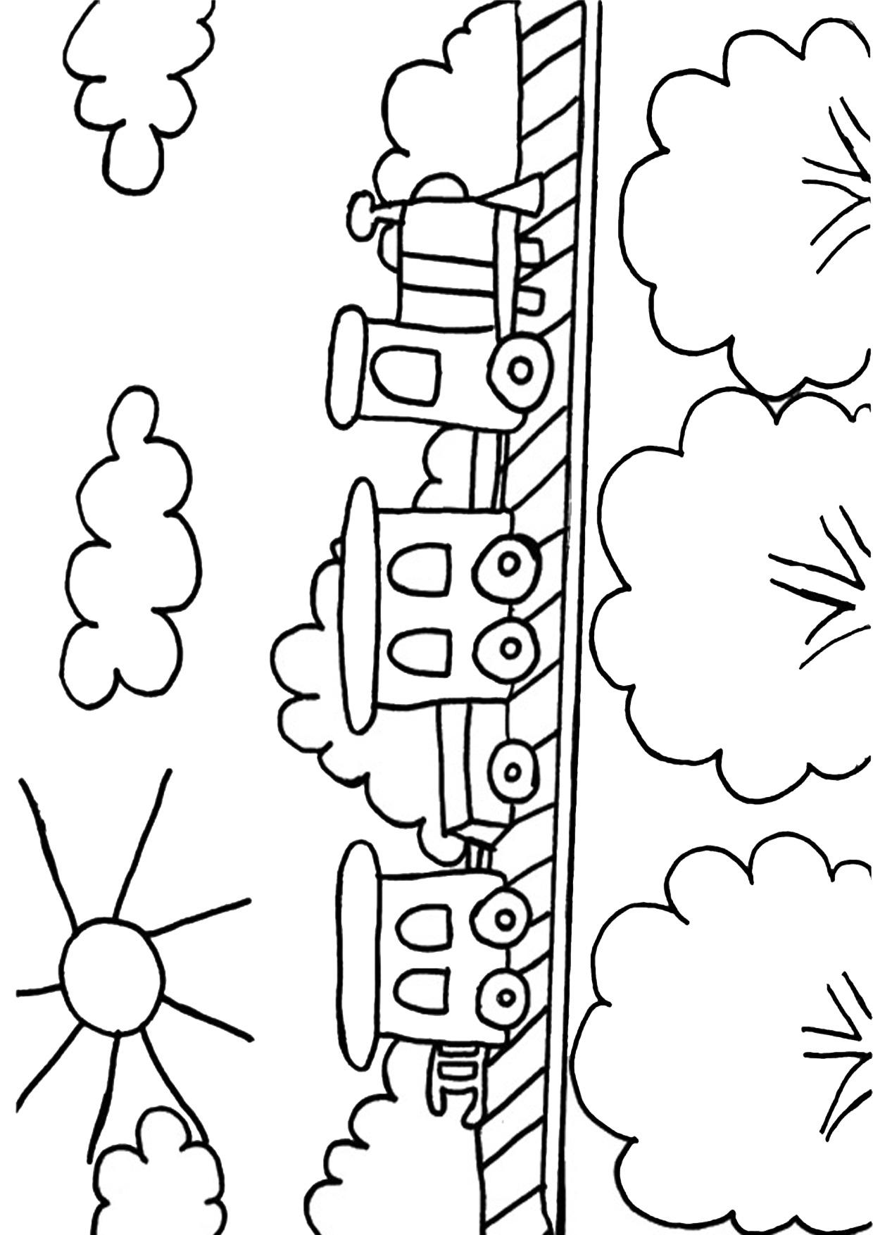 Disegno di treno cartoon da colorare 11