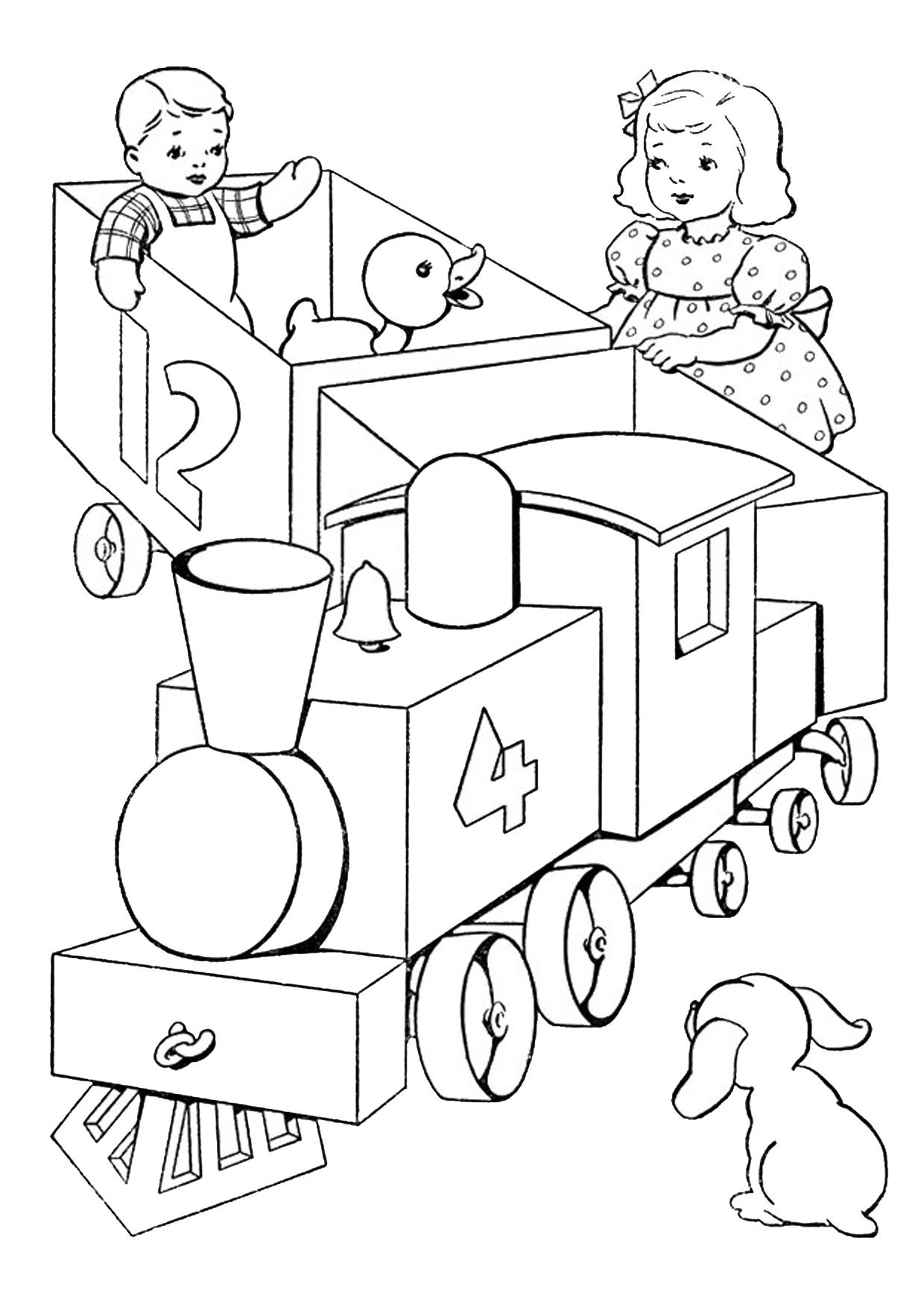 Disegno di treno cartoon da colorare 12