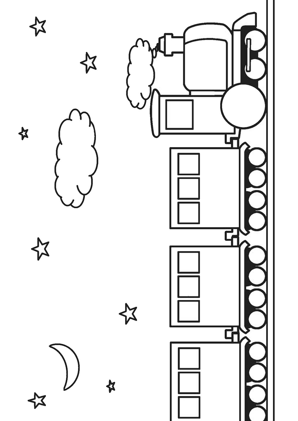 Disegno di treno cartoon da colorare 15
