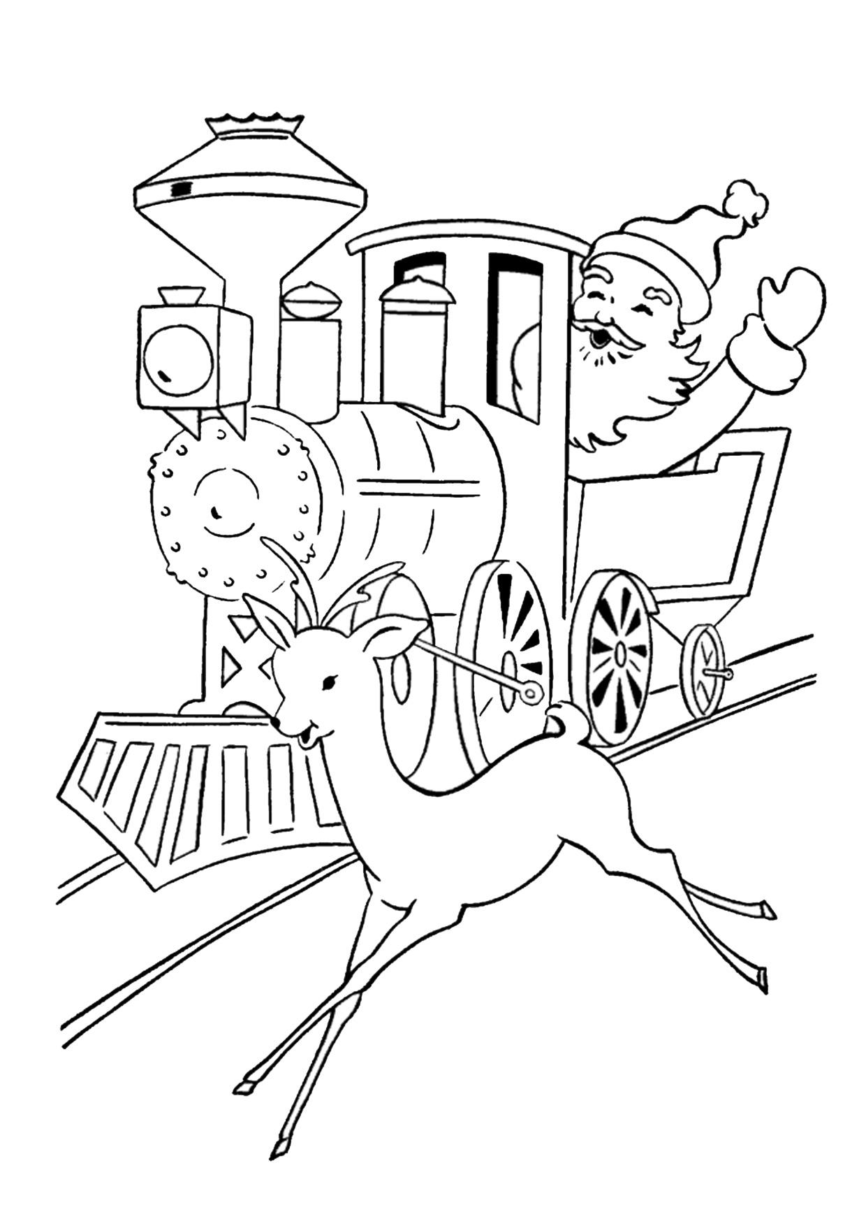 Disegno di treno cartoon da colorare 17