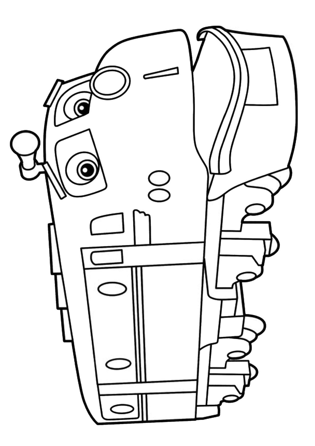 Disegno di treno cartoon da colorare 19