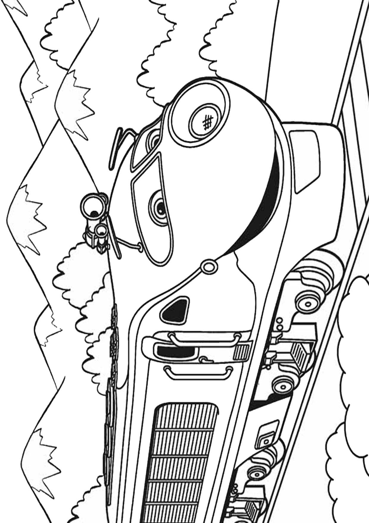 Disegno di treno cartoon da colorare 20