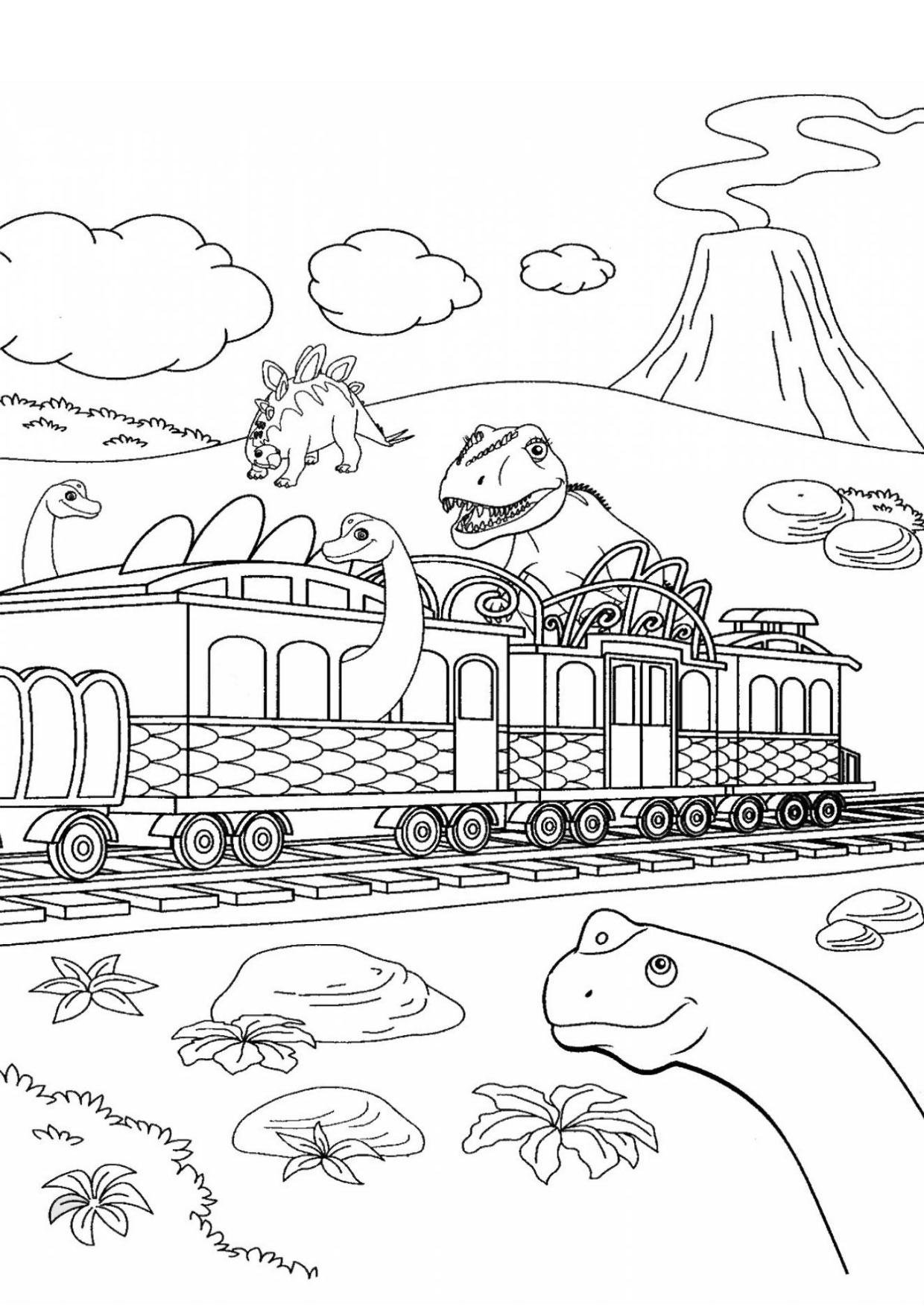 Disegno di treno cartoon da colorare 21