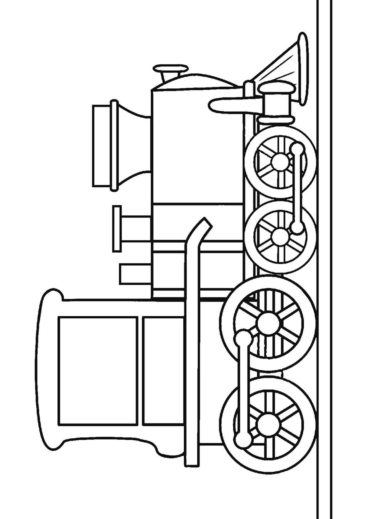 Disegno di treno da colorare 01