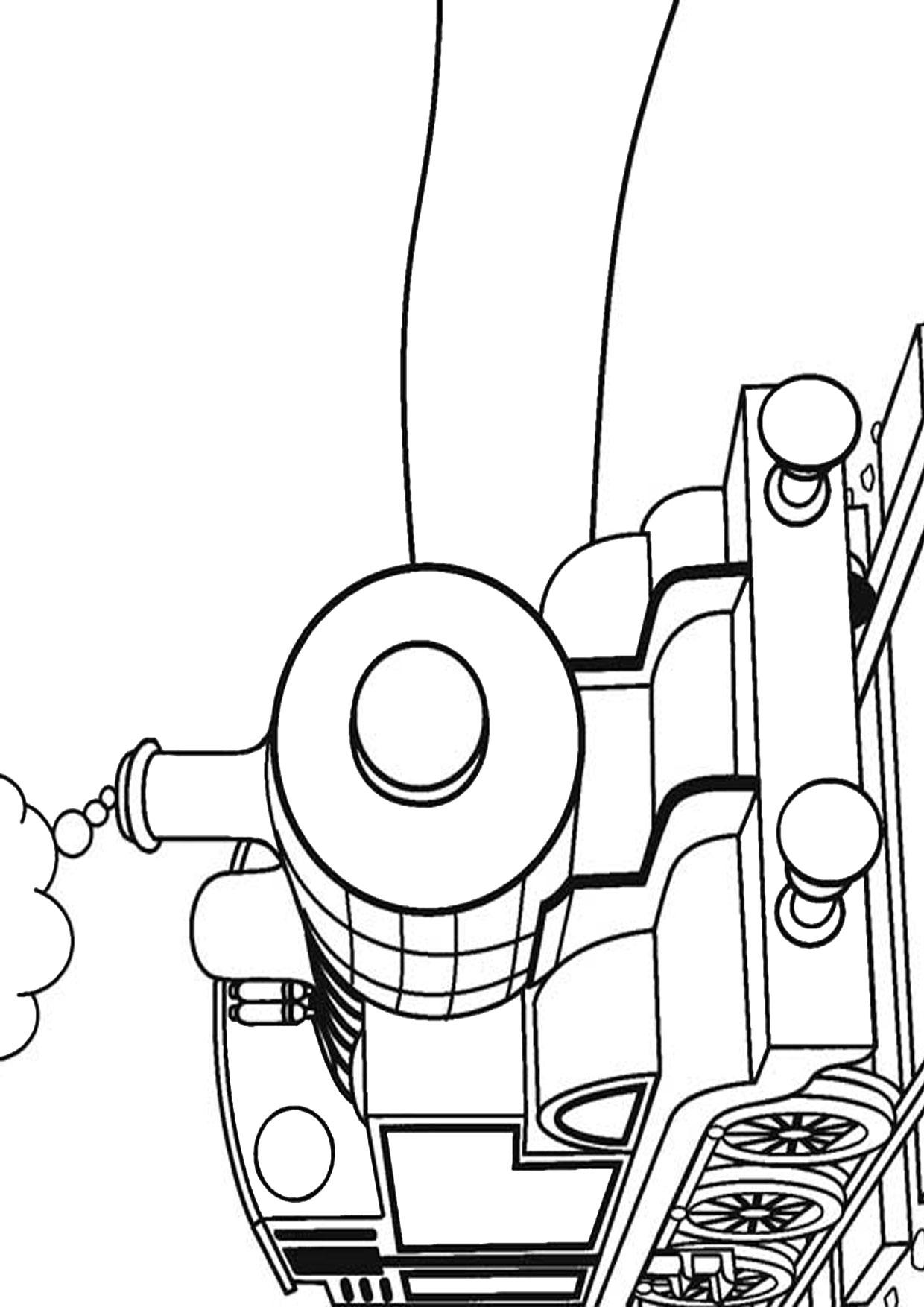 Disegno di treno da colorare 03