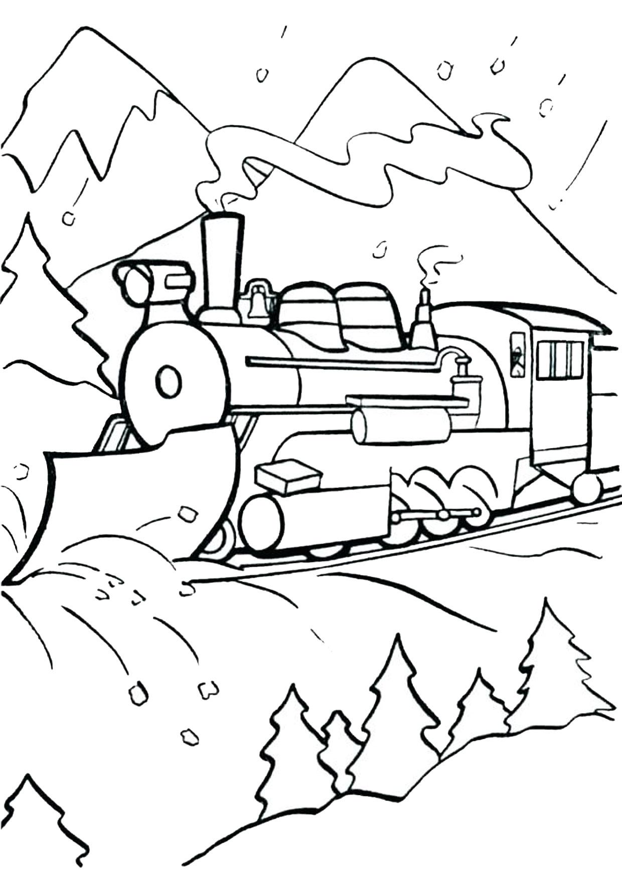 Disegno di treno da colorare 04