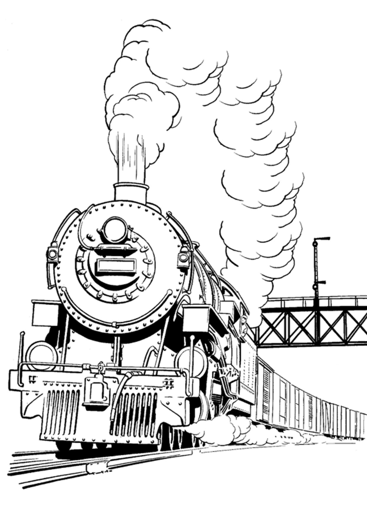 Disegno di treno da colorare 05
