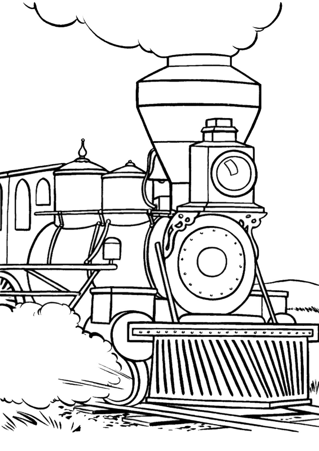 Disegno di treno da colorare 06