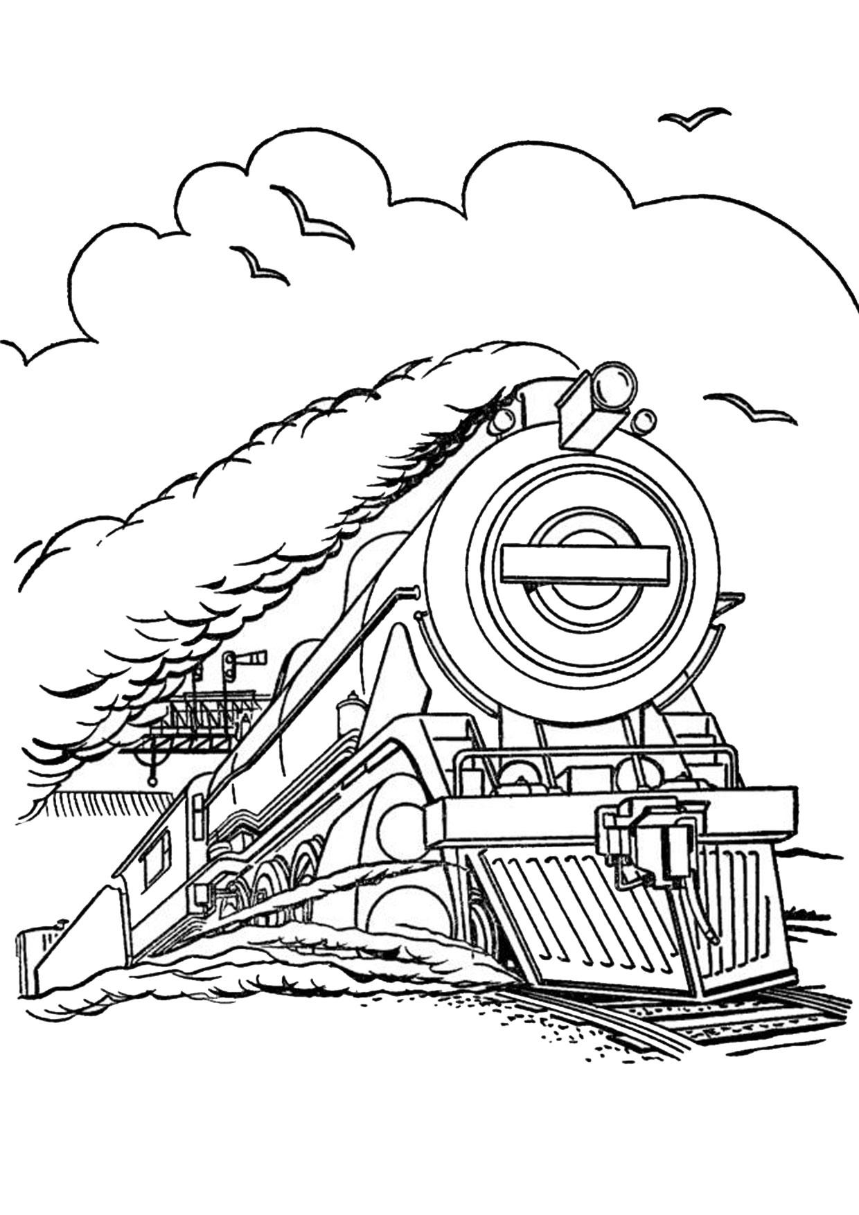 Disegno di treno da colorare 07
