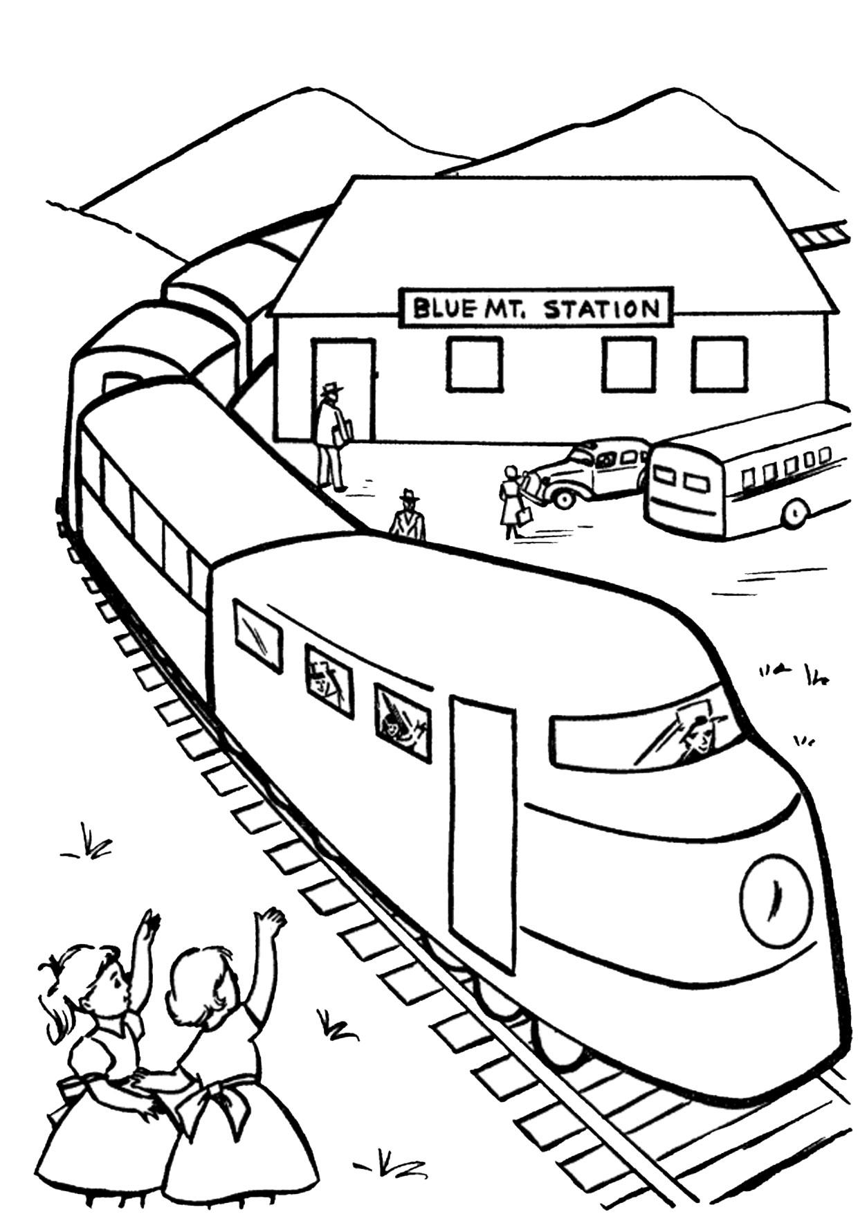 Disegno di treno da colorare 12