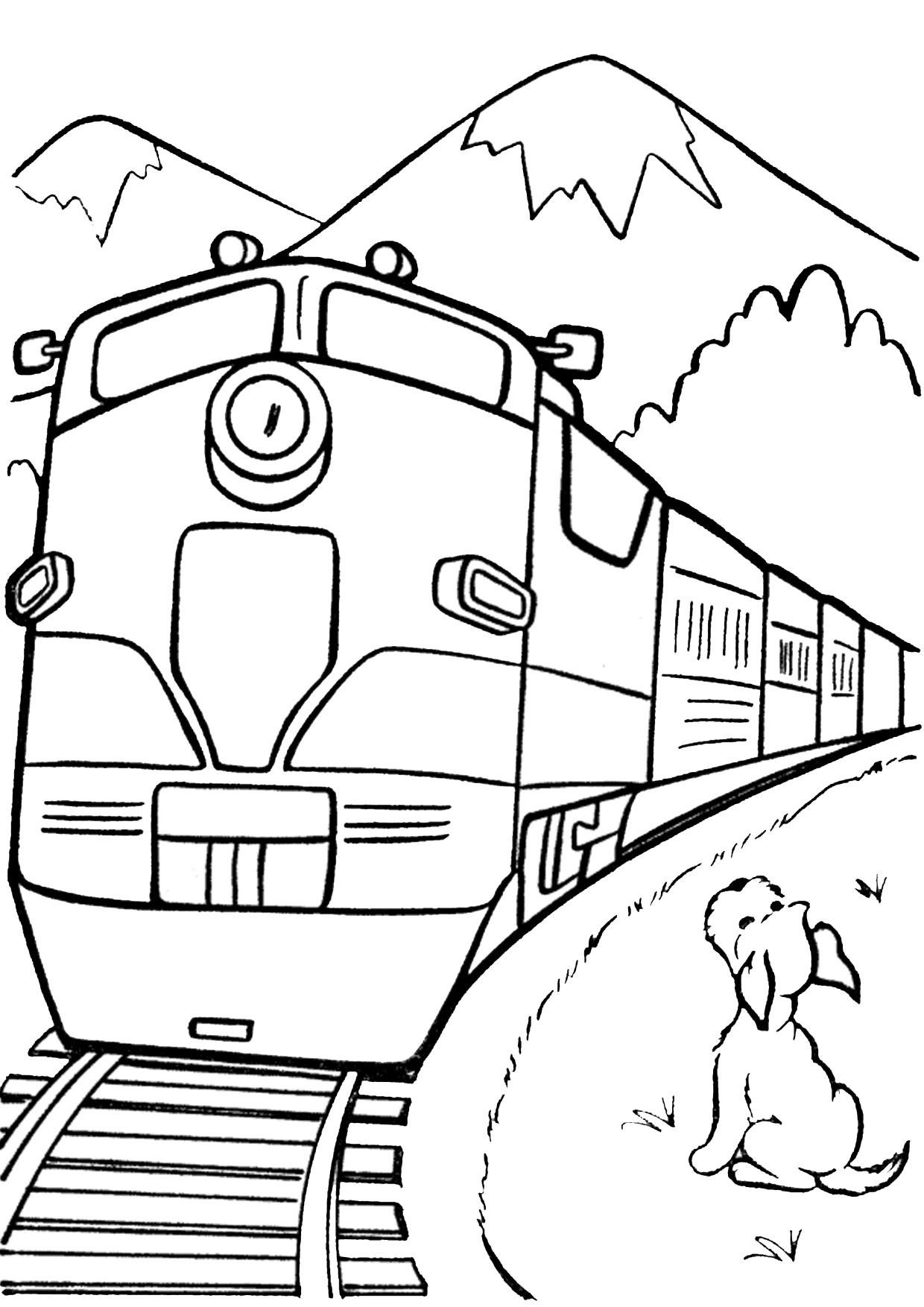 Disegno di treno da colorare 13