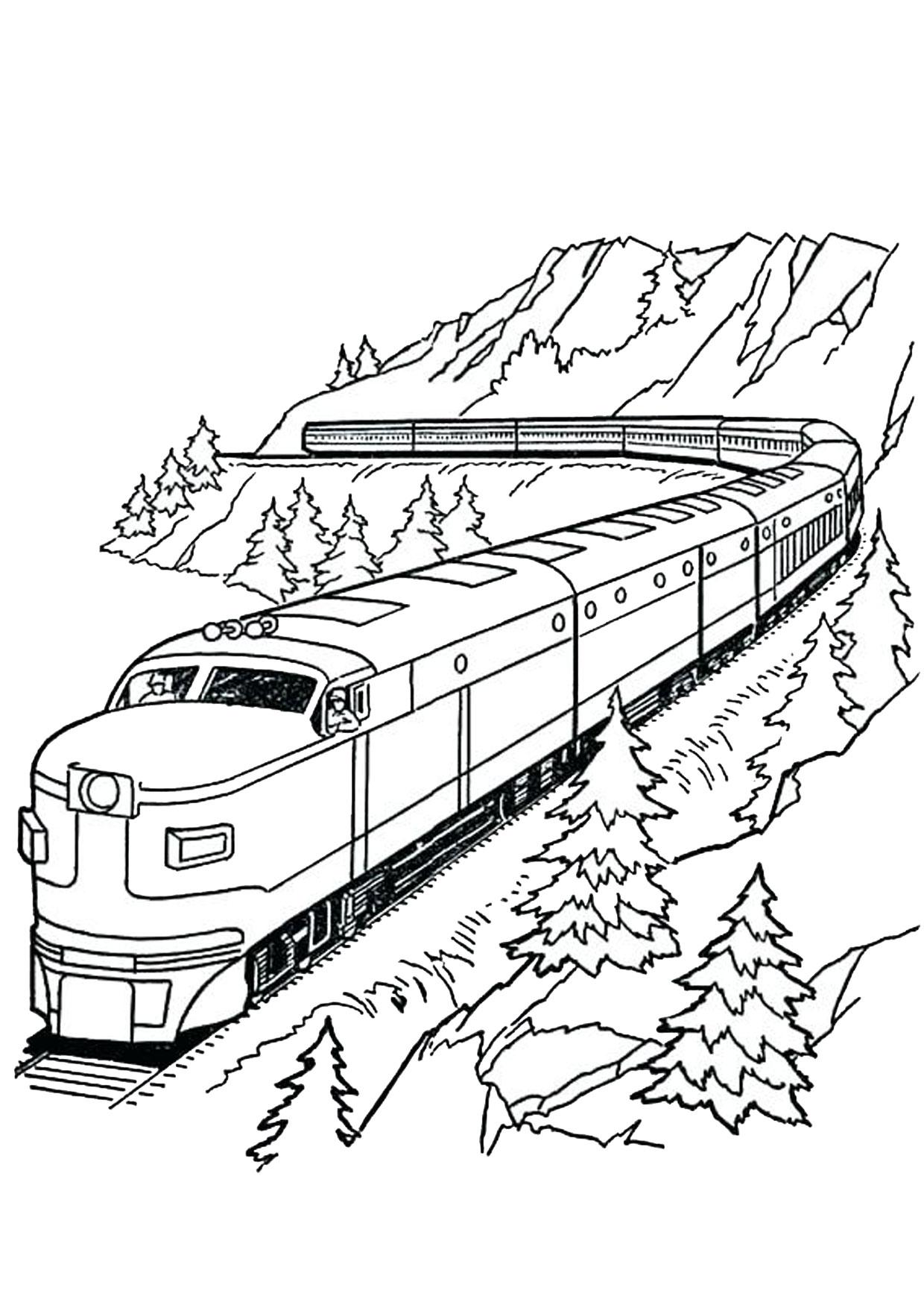 Disegno di treno da colorare 14