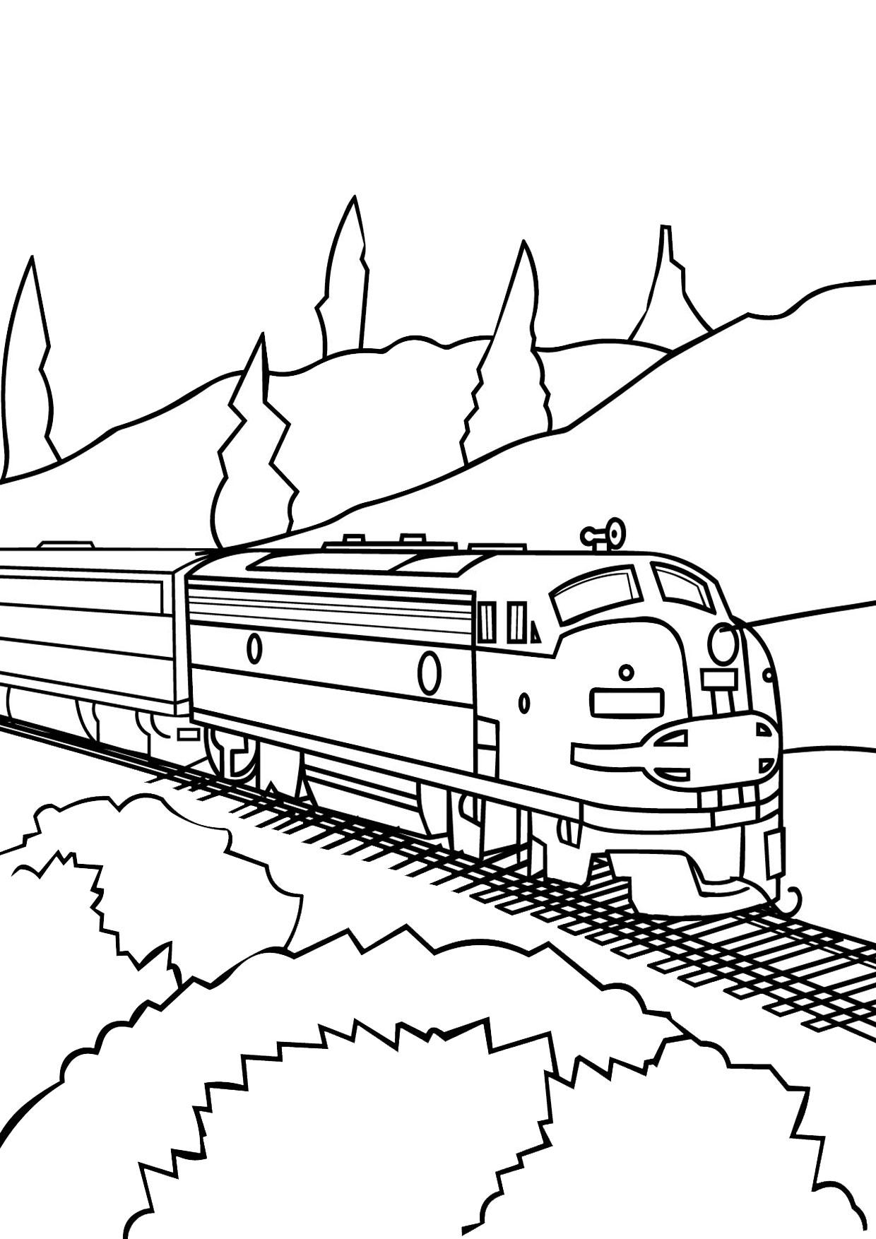 Disegno di treno da colorare 15