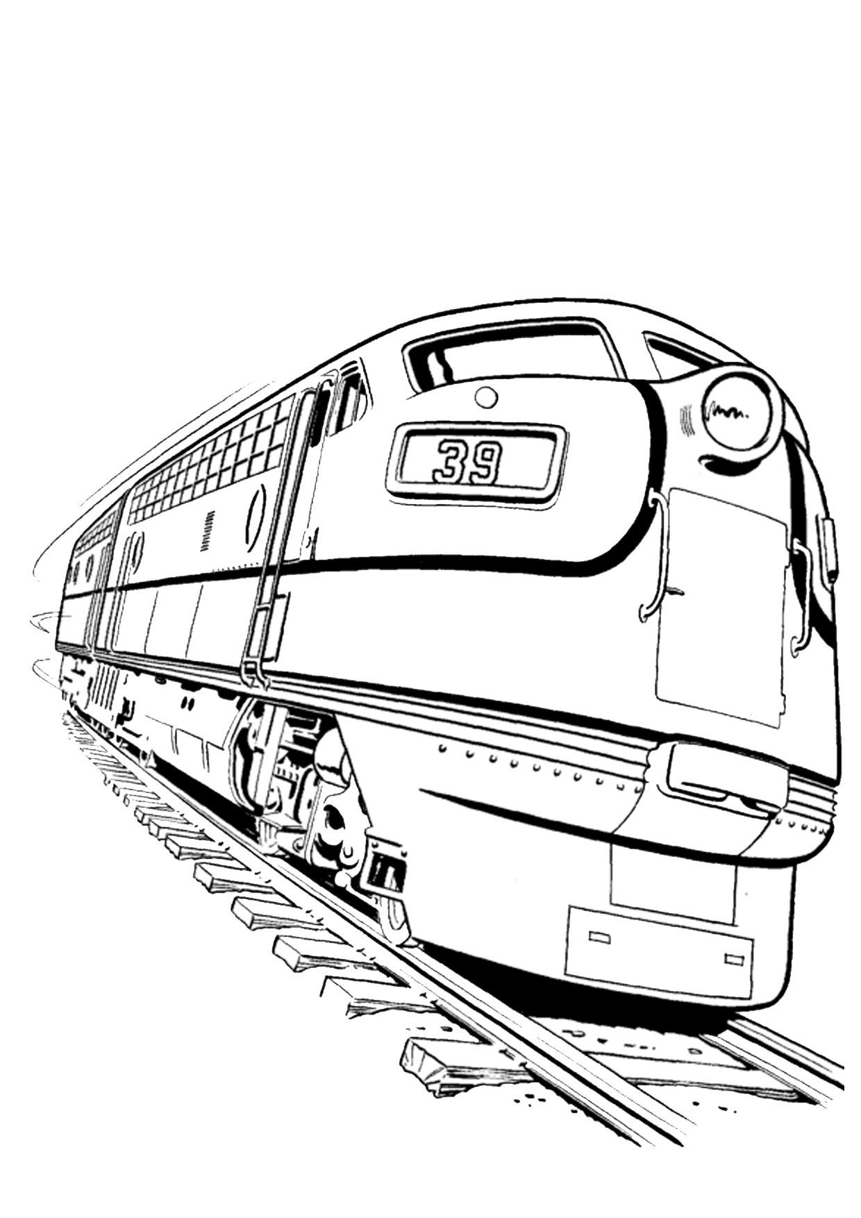 Disegno di treno da colorare 16